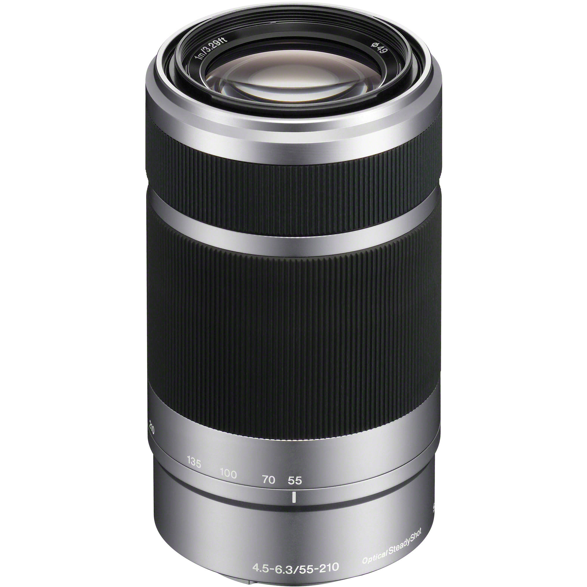 sony e 55 210mm f 4 5 6 3 oss lens silver sel55210 b h photo. Black Bedroom Furniture Sets. Home Design Ideas