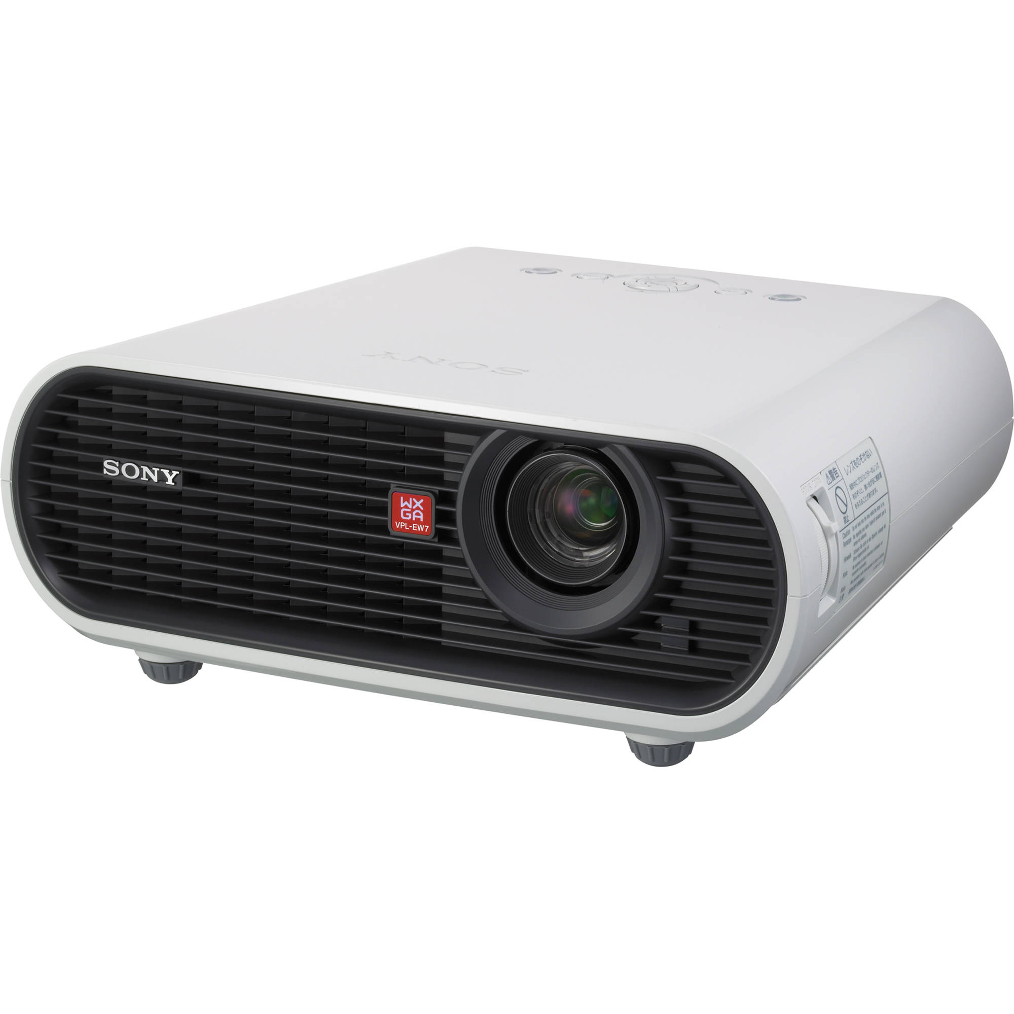 Sony vpl ew 3lcd portable projector vplew7 b h photo video for Projector tv reviews