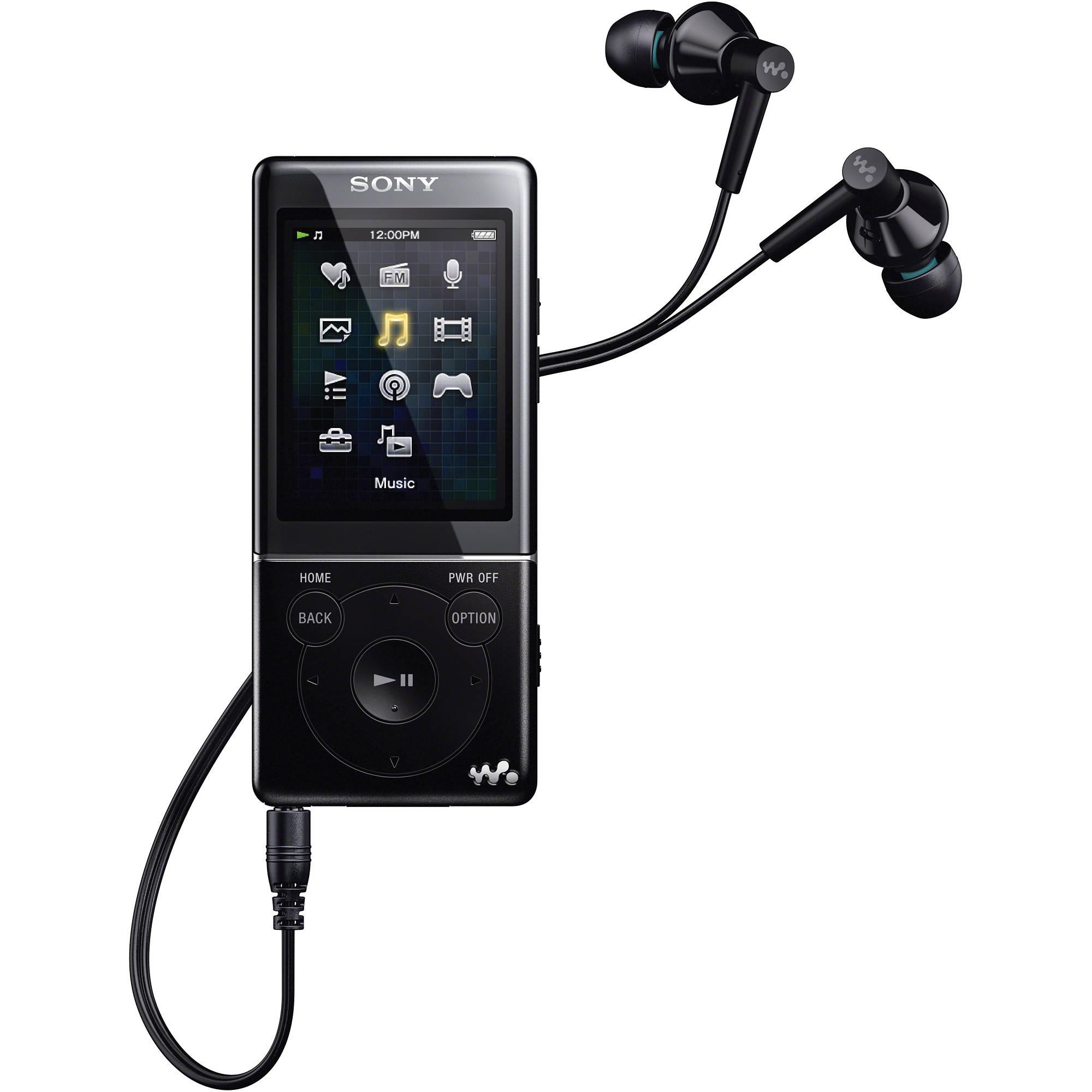 sony 8gb e series walkman video mp3 player black nwze474blk rh bhphotovideo com sony nwze384 8gb walkman mp3 video player manual Sony Walkman MP3 Player Accessories