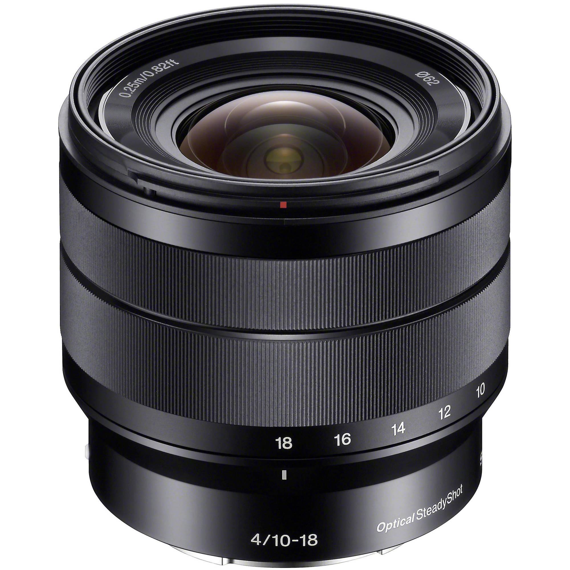 Sony E 10 18mm F 4 Oss Lens Sel1018 B Amp H Photo Video