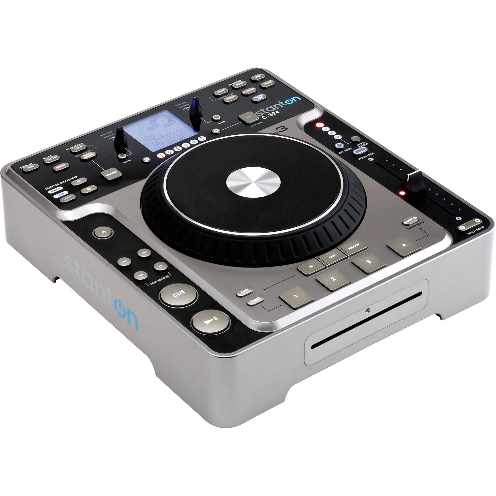 stanton professional dj table top cd player c324 b h photo. Black Bedroom Furniture Sets. Home Design Ideas