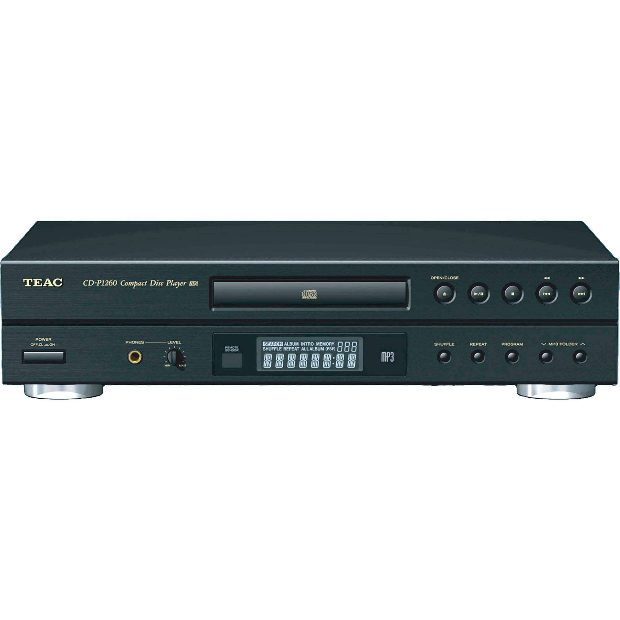 teac cd p1260 mp3 cd player cd p1260 b h photo video. Black Bedroom Furniture Sets. Home Design Ideas