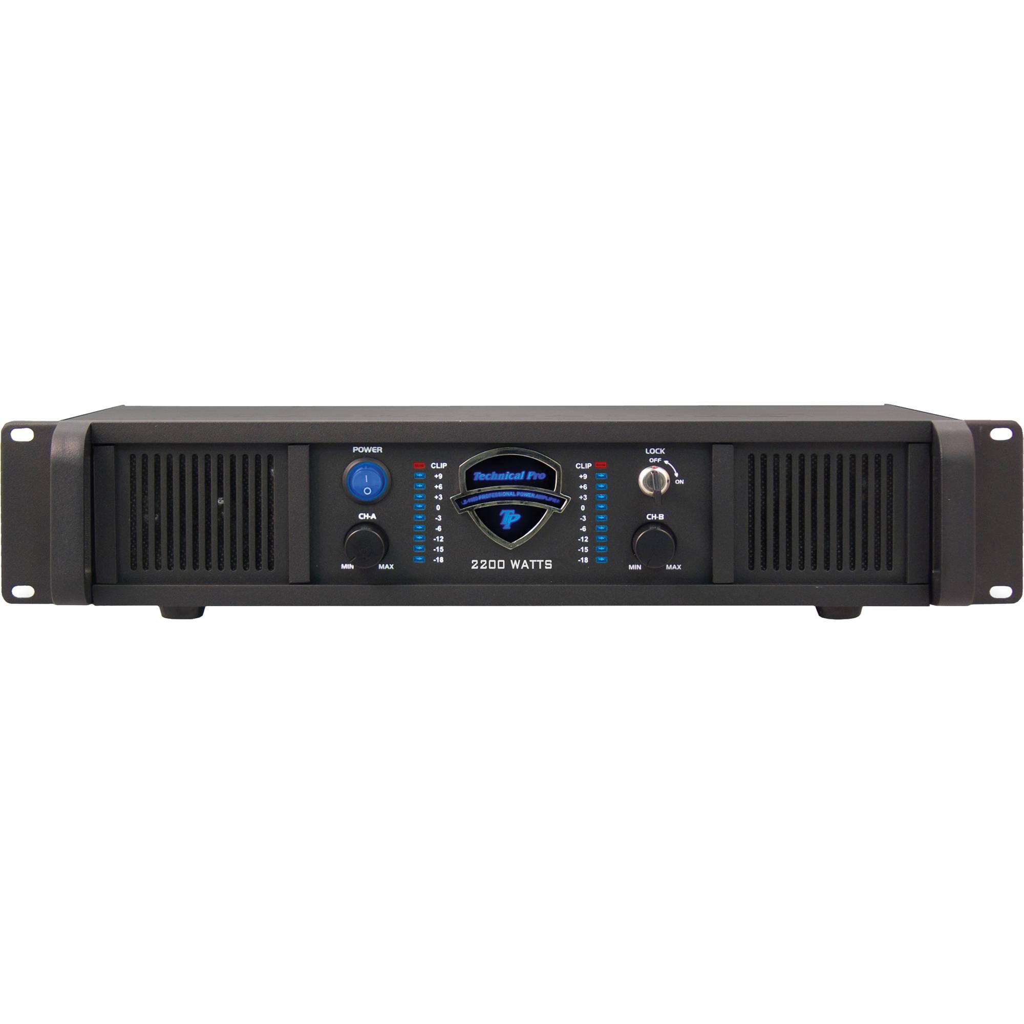 Technical Pro Lz2200 2 Channel Power Amplifier Bh Photo Lockin Amplifierj