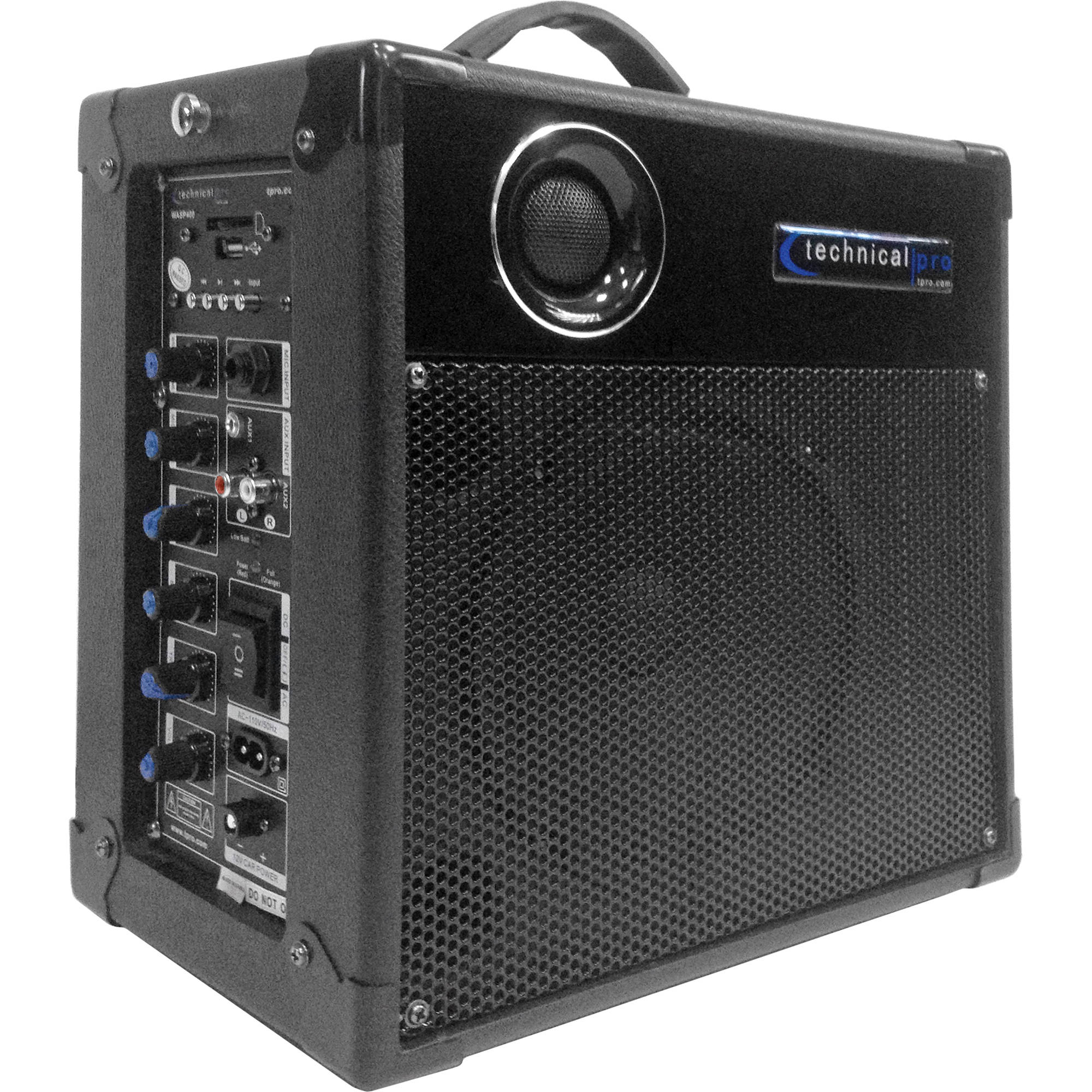 technical pro wasp400 portable pa system with wireless wasp 400. Black Bedroom Furniture Sets. Home Design Ideas