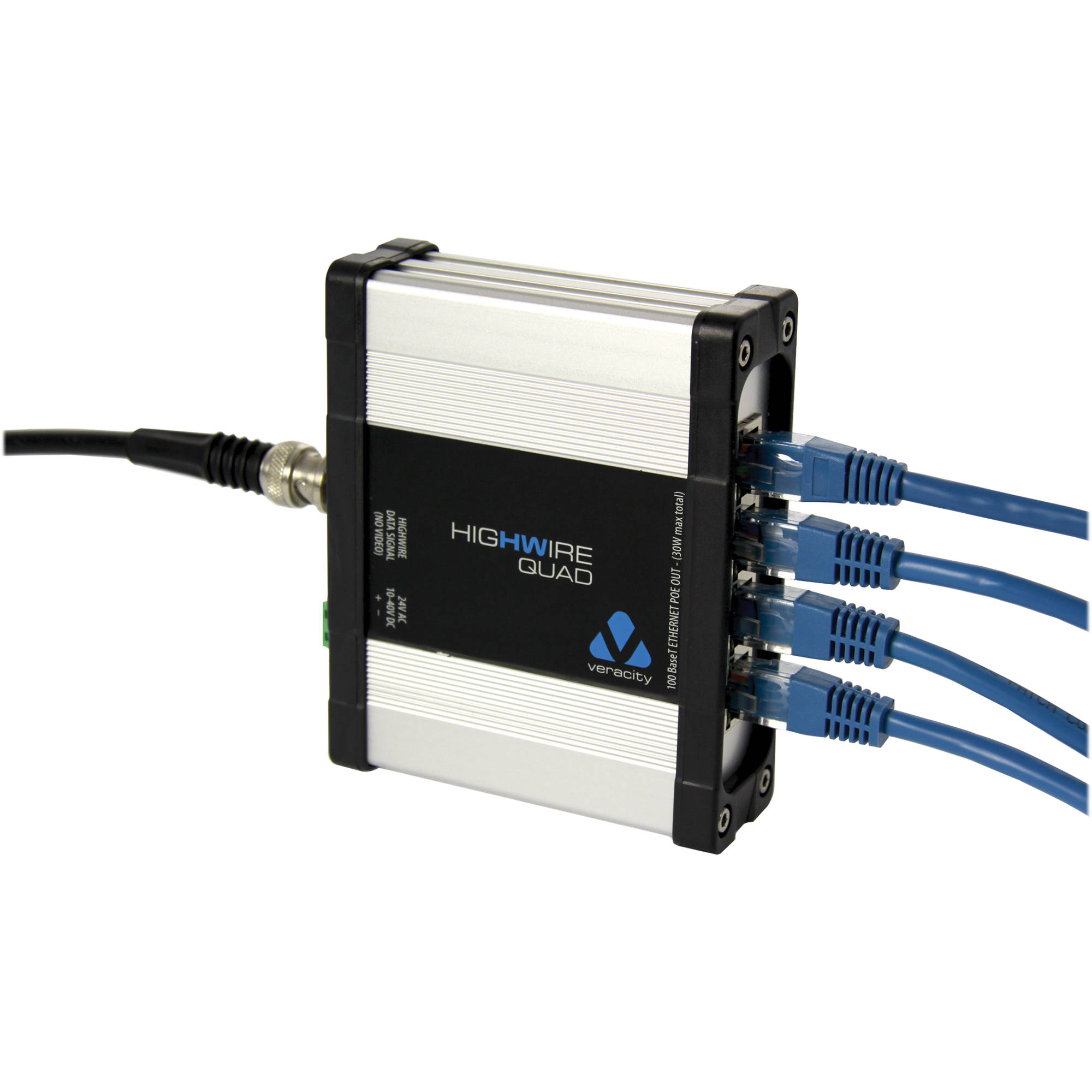 Coaxial Cable To Ethernet Adapter : Veracity highwire quad ethernet over coax converter vhw