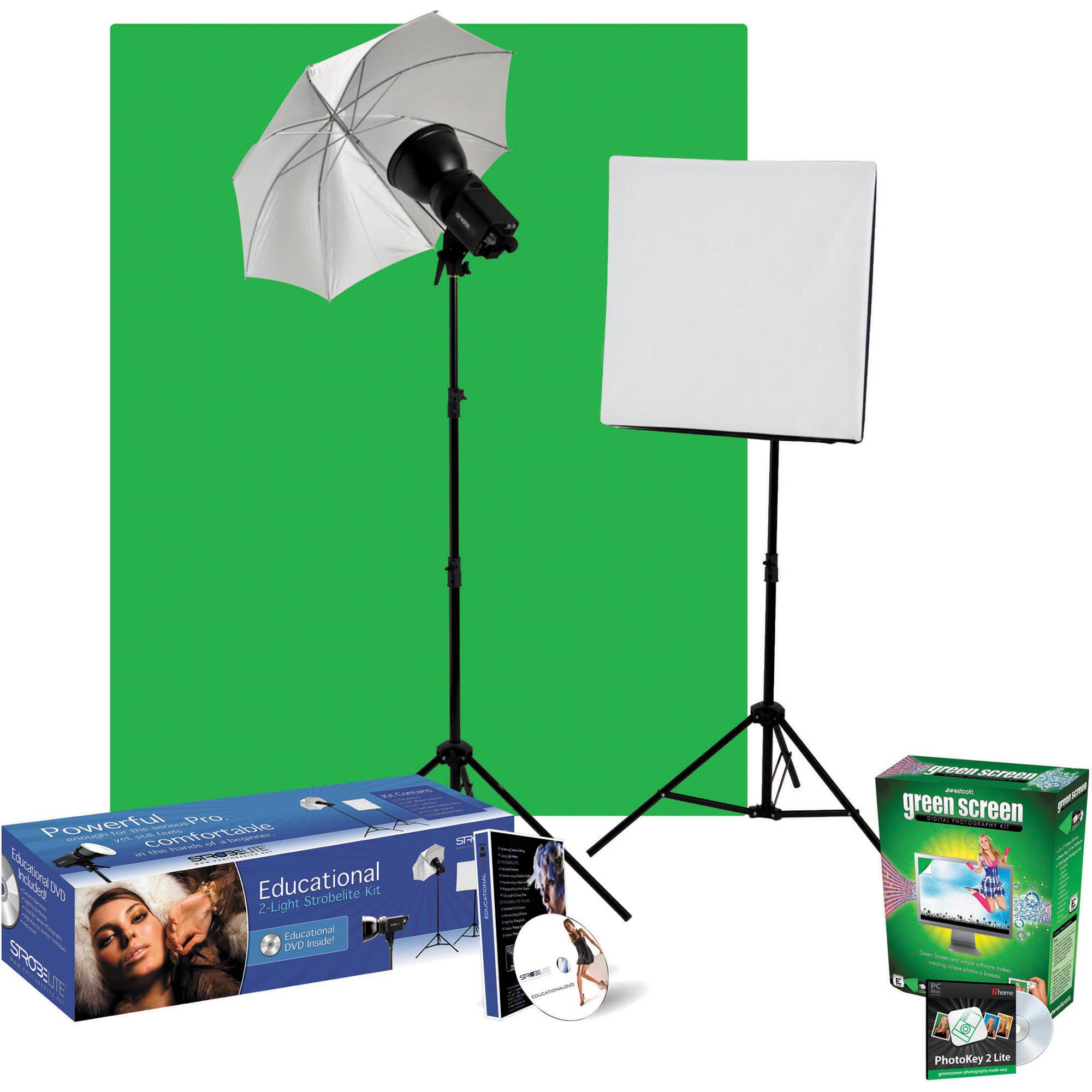 Westcott Strobelite Digital Green Screen Lighting Kit Q22012D
