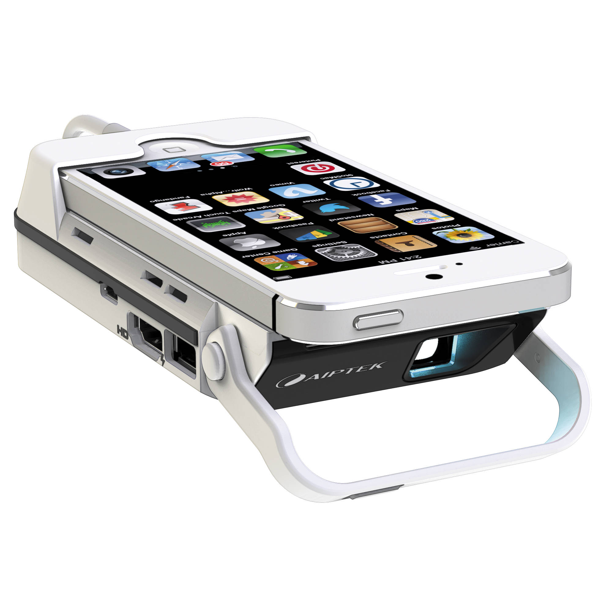 Aiptek mobilecinema i55 pico projector power bank i55 b h for Iphone mini projector reviews