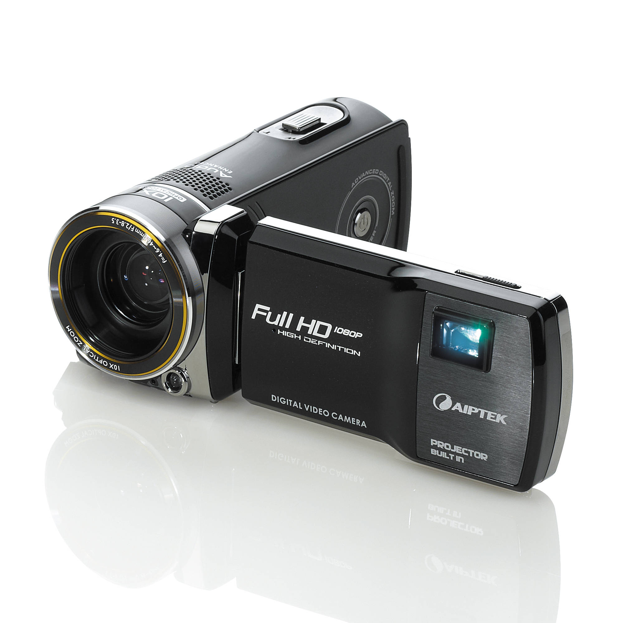 Aiptek projectorcam c25 full hd camcorder projectorcam c25 b h for Hd pico projector