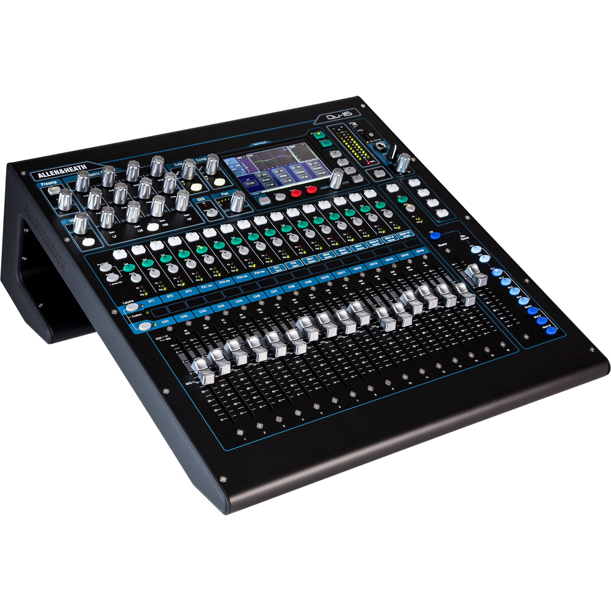 allen heath qu 16c rackmountable digital mixer ah qu 16c b h. Black Bedroom Furniture Sets. Home Design Ideas