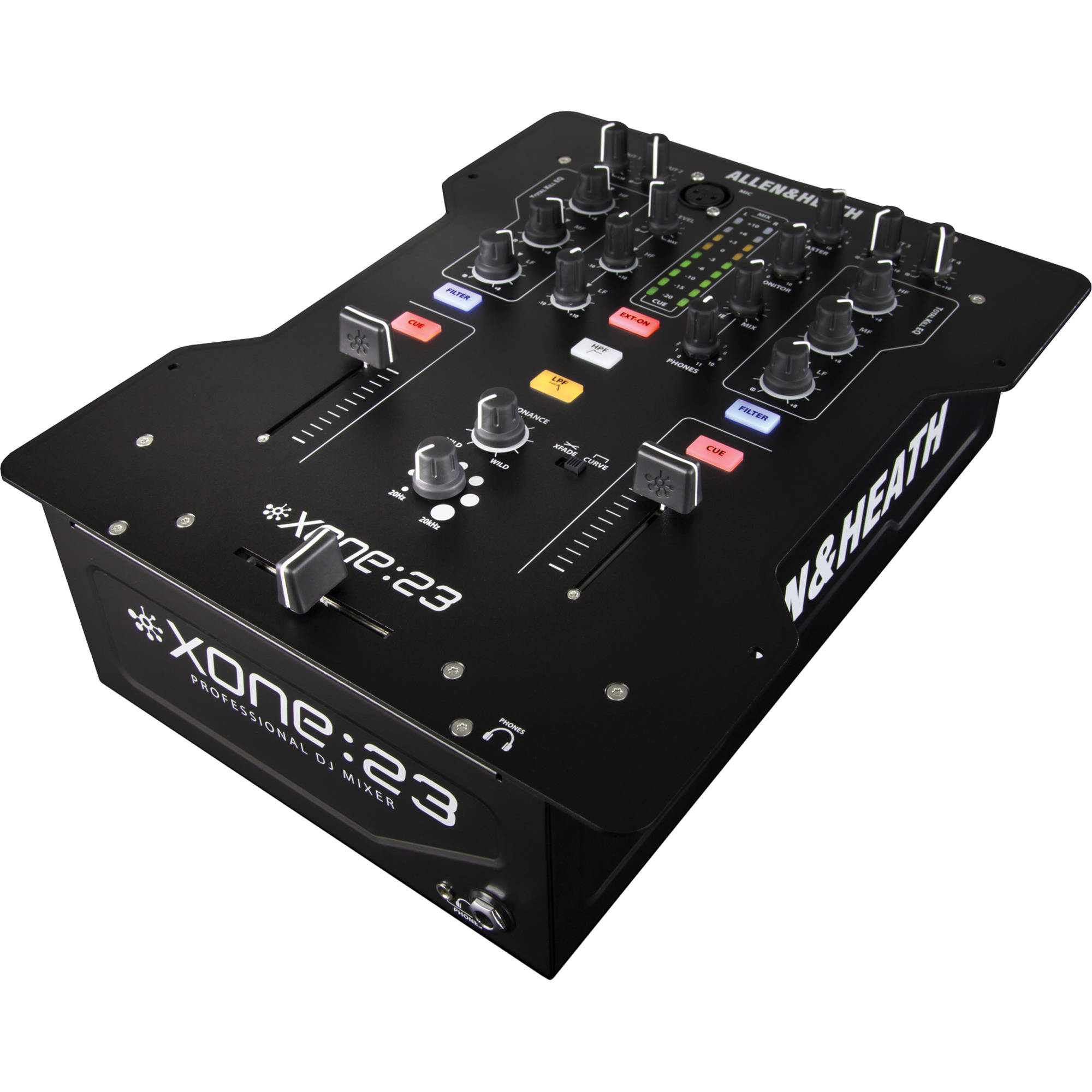 allen heath xone 23 2 2 channel dj mixer xone 23 b h photo. Black Bedroom Furniture Sets. Home Design Ideas