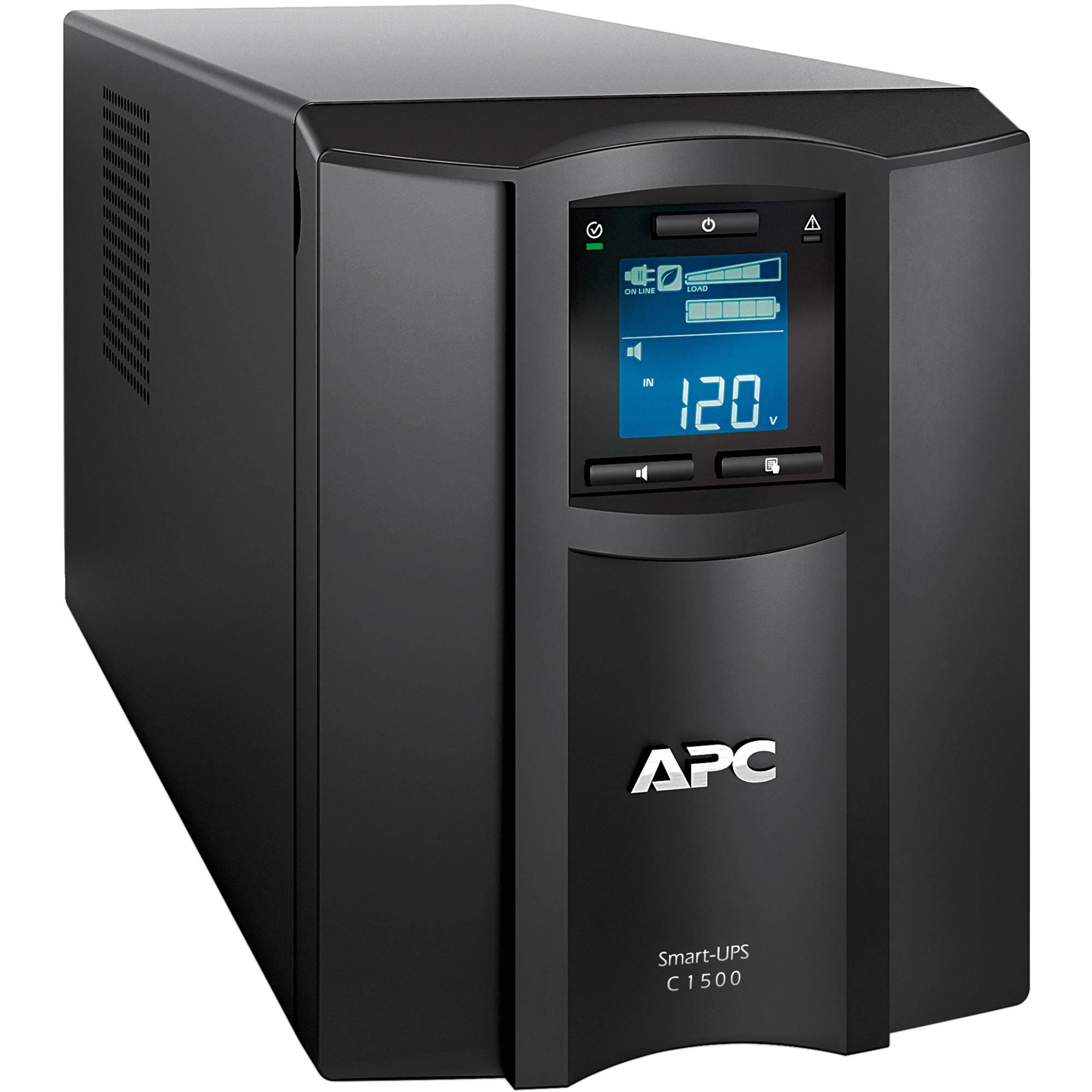 UPC 1500 VA Intelligent LCD UPS Tower Battery Backup Computer Surge Protector
