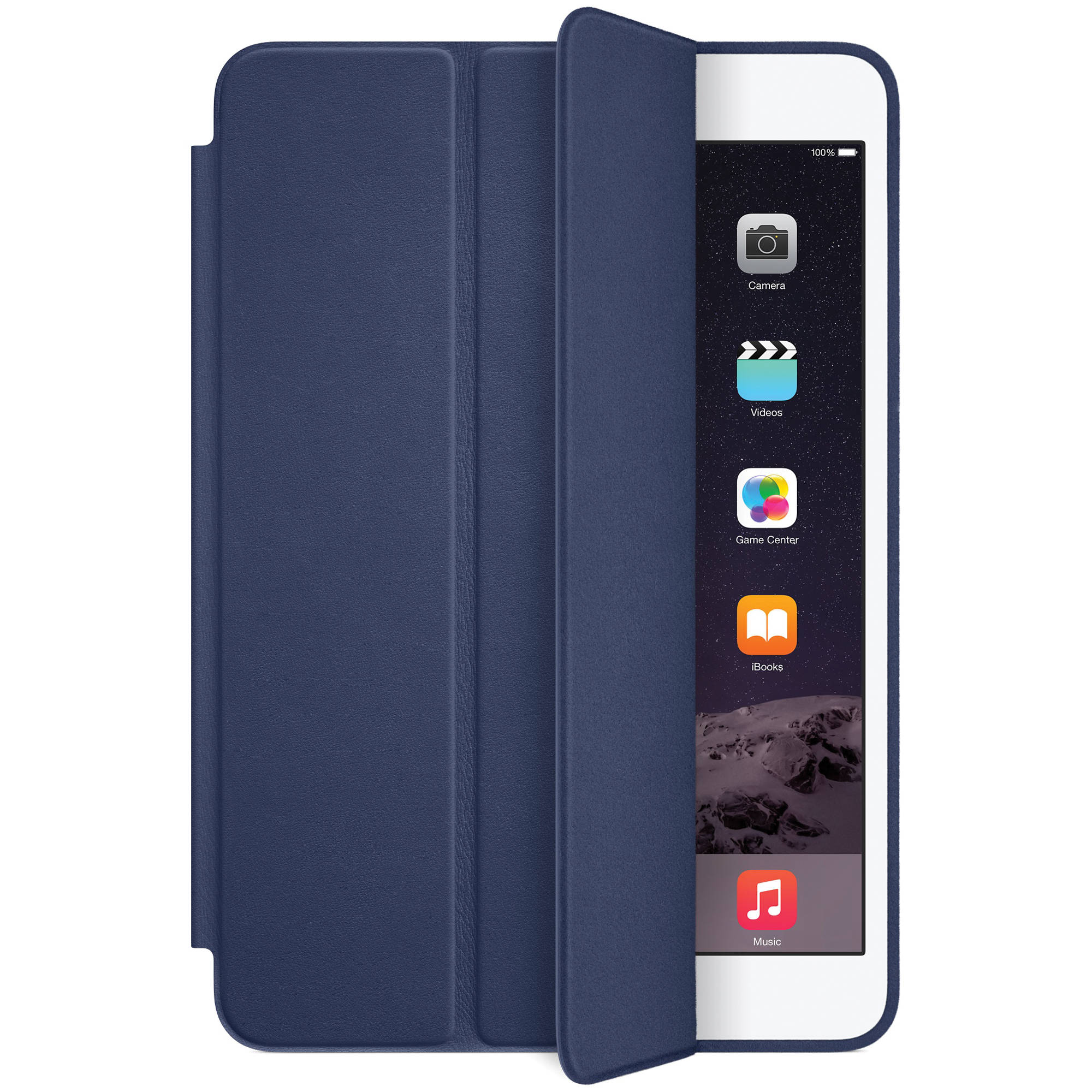 apple ipad mini 1 2 3 smart case midnight blue mgmw2zm a b h. Black Bedroom Furniture Sets. Home Design Ideas