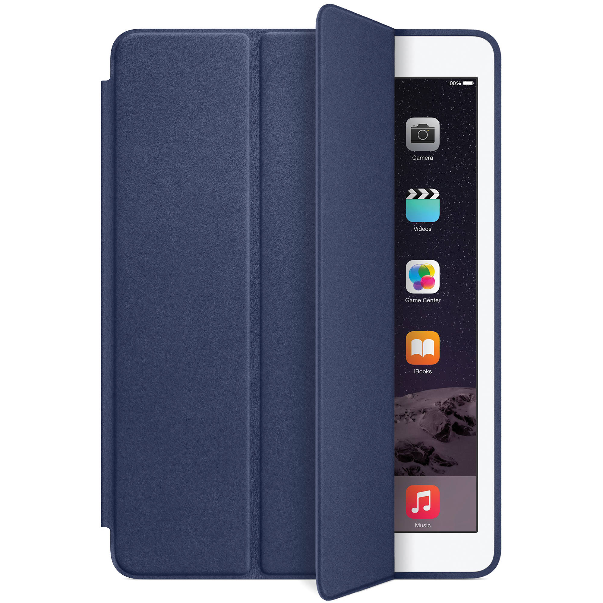 apple smart case for ipad air 2 midnight blue mgtt2zm a b h. Black Bedroom Furniture Sets. Home Design Ideas