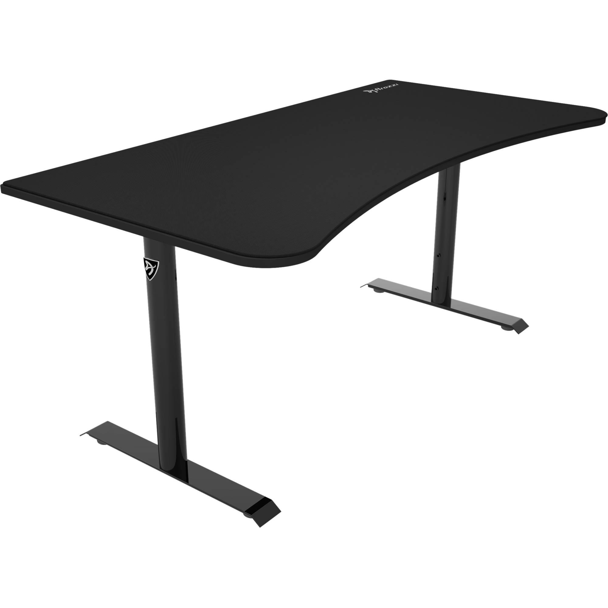 Ordinary Black Table Desk Part - 11: Arozzi Arena Gaming Desk (Pure Black)