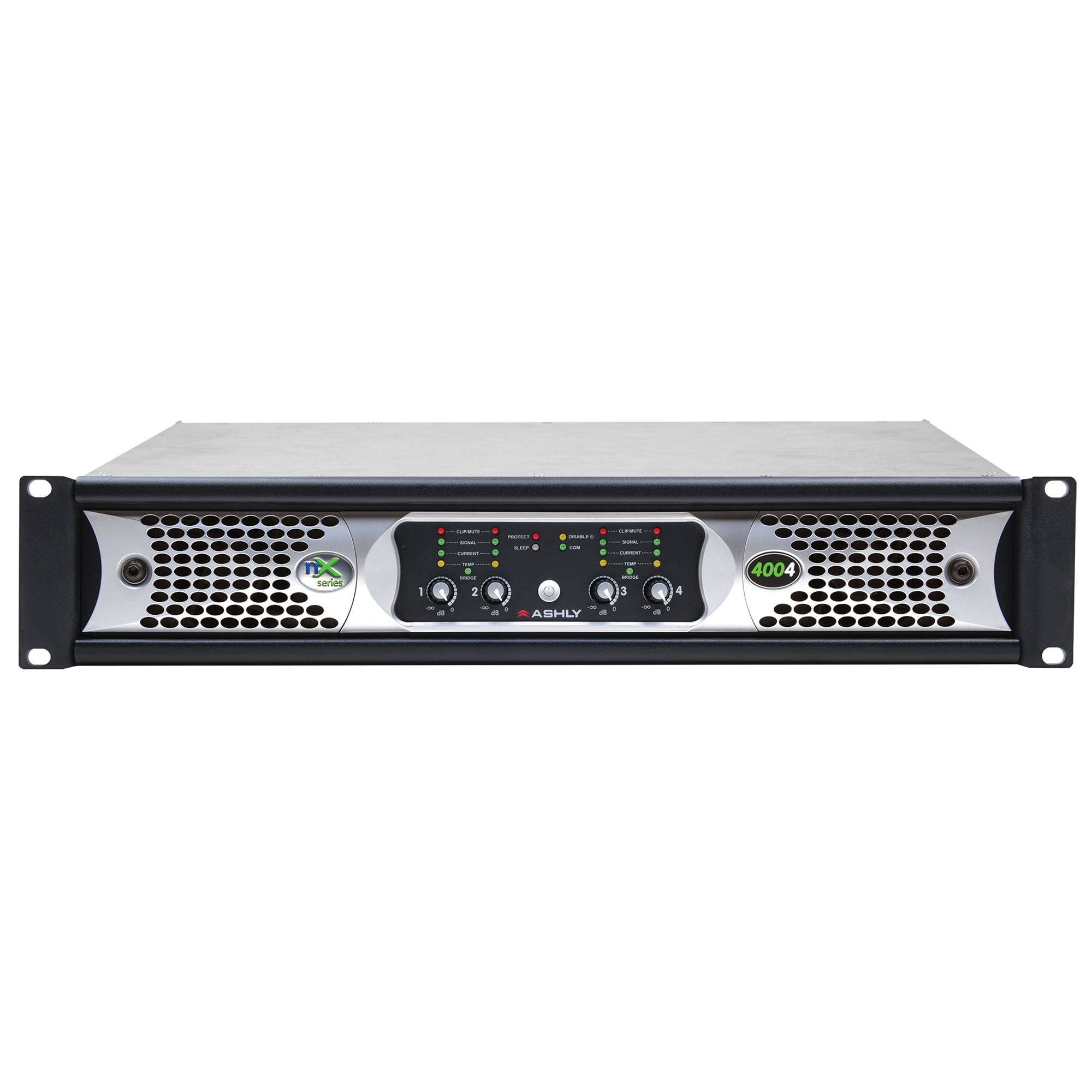 Ashly Nx Series Nx4004 4 Channel 400w Power Amplifier Bh Class A With 60 Watts Output Programmable Outputs
