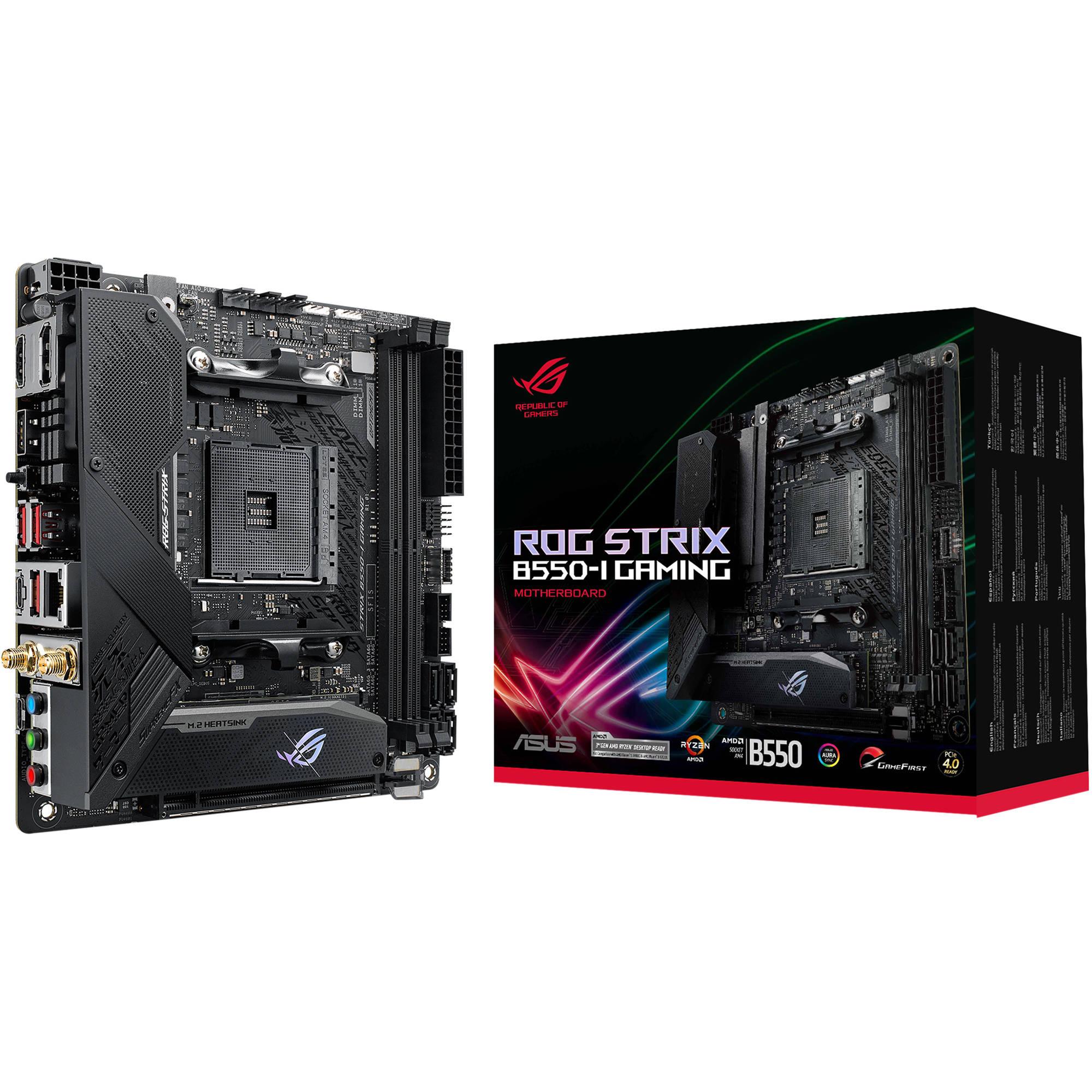 ASUS Republic of Gamers Strix B550-I AM4 ROG STRIX B550-I GAMING