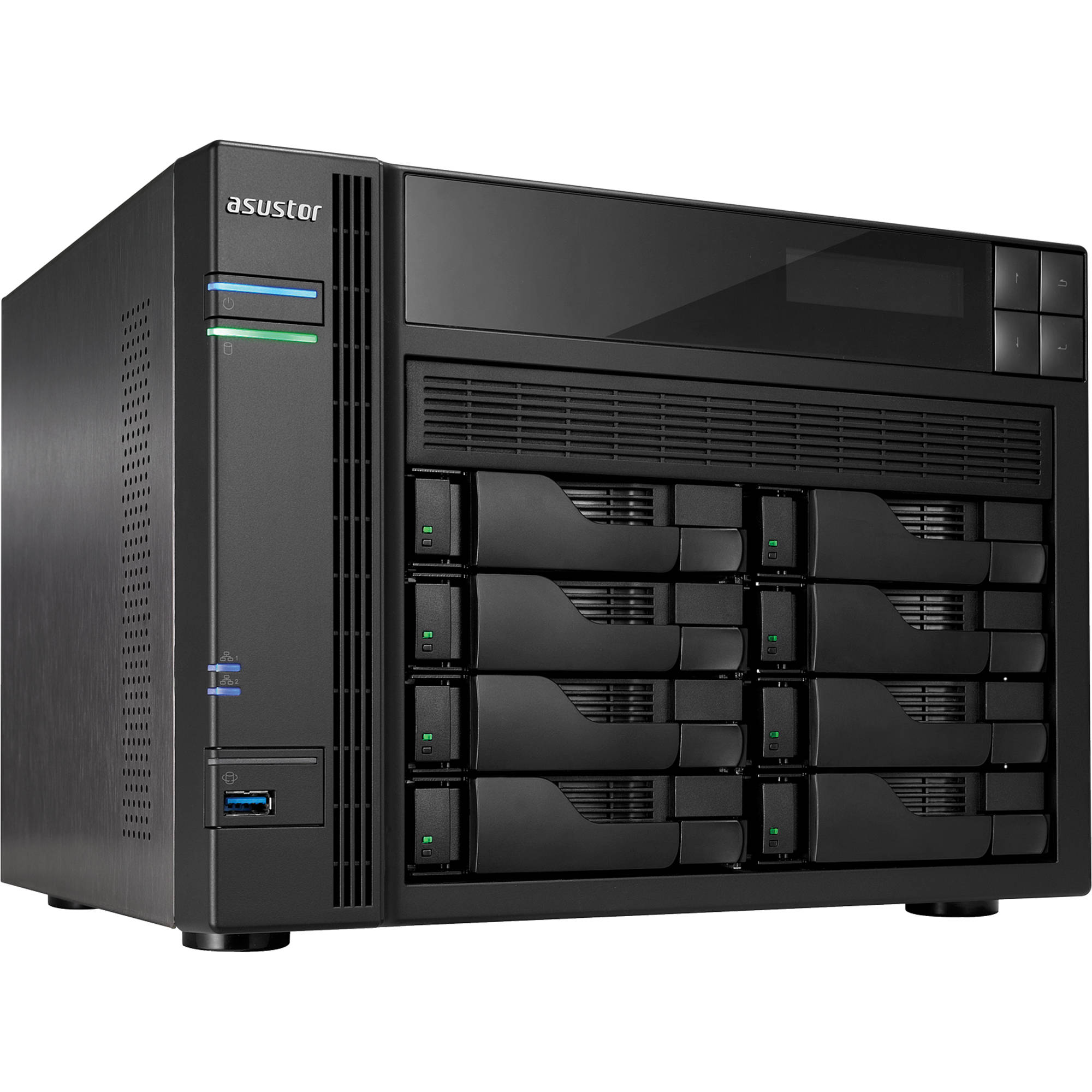 Asustor as 608t 8 bay nas storage server diskless as for Storage bay