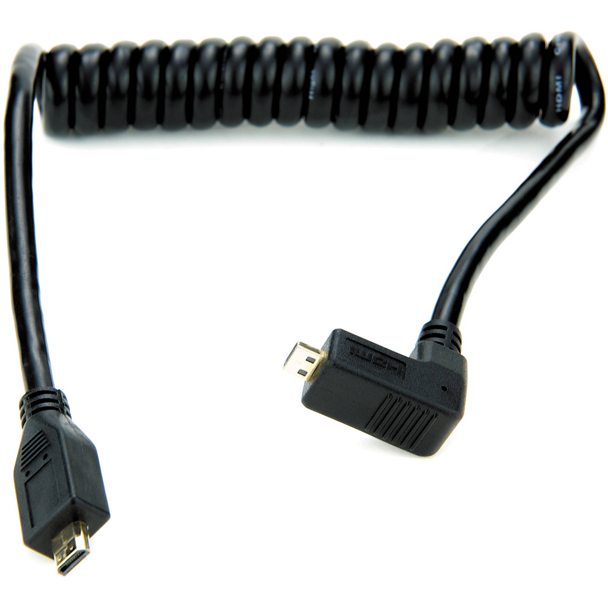 atomos right angle micro to micro hdmi coiled cable atomcab005. Black Bedroom Furniture Sets. Home Design Ideas