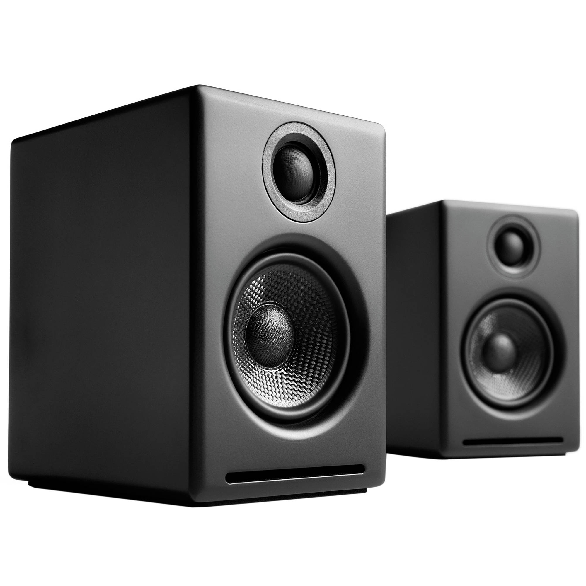 audioengine a2 powered desktop speakers black a2 b. Black Bedroom Furniture Sets. Home Design Ideas