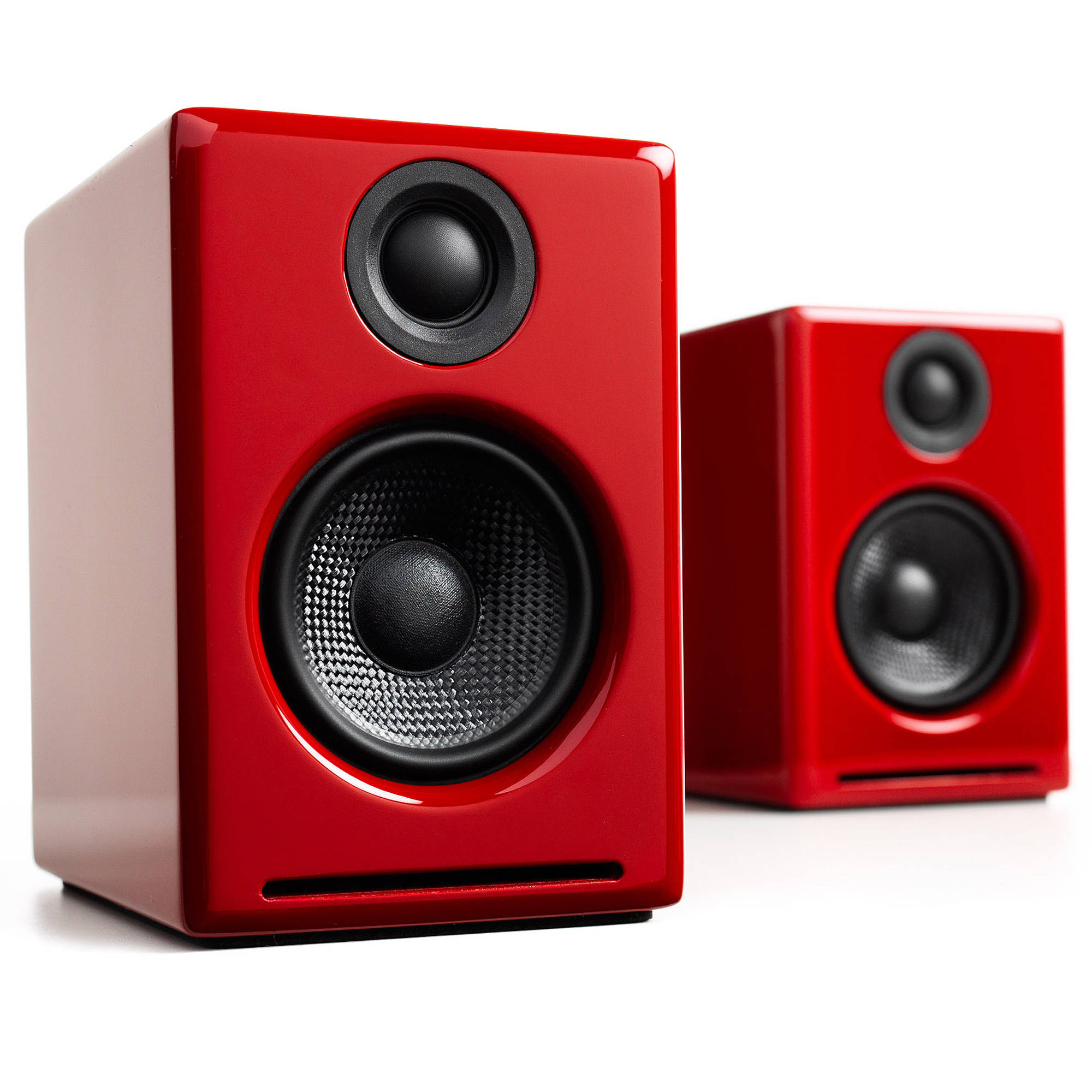 Audioengine A2 2 75 Quot Powered Desktop Speakers Red A2 R