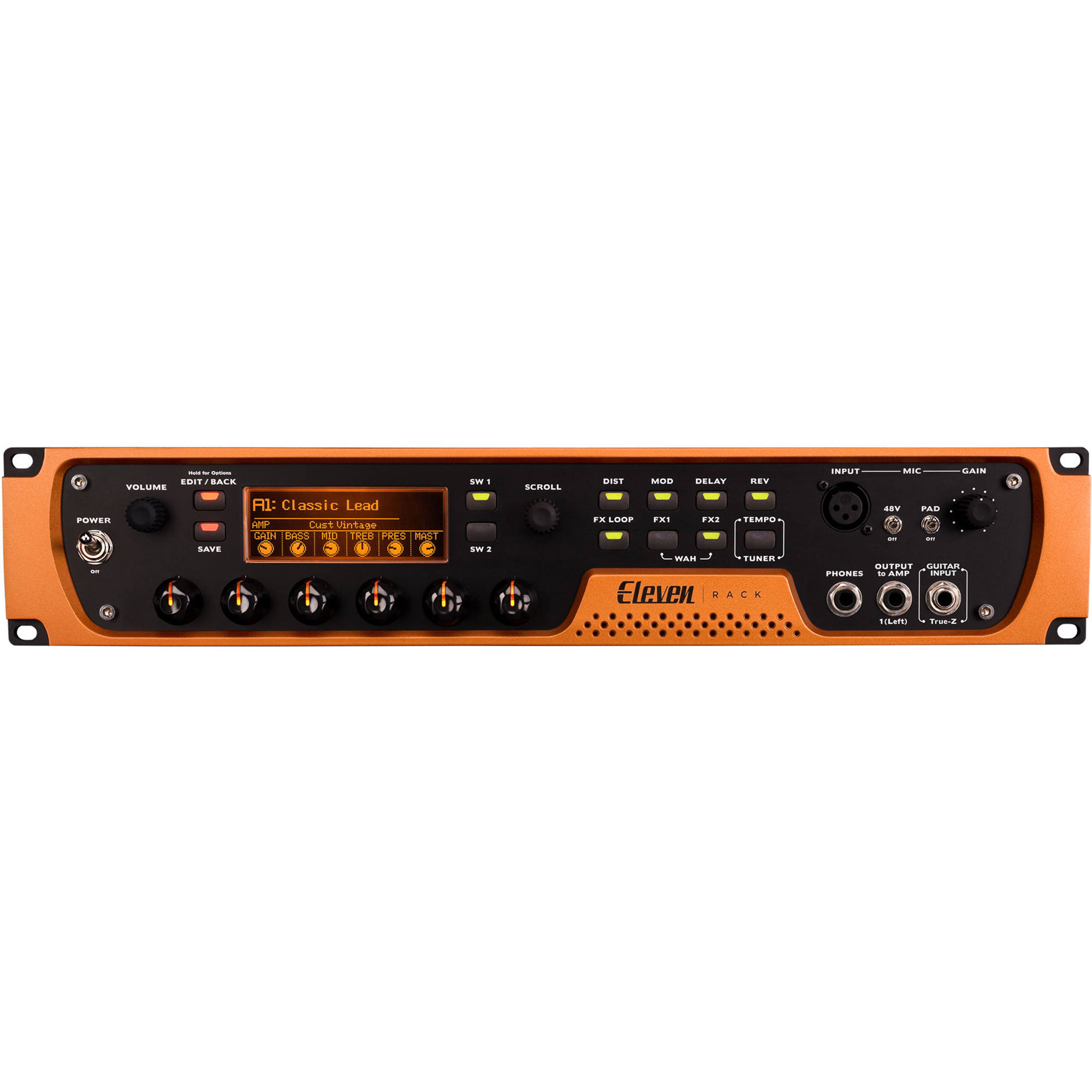 Avid Pro Tools Eleven Rack Recording And Guitar Amp Emulation System With 1