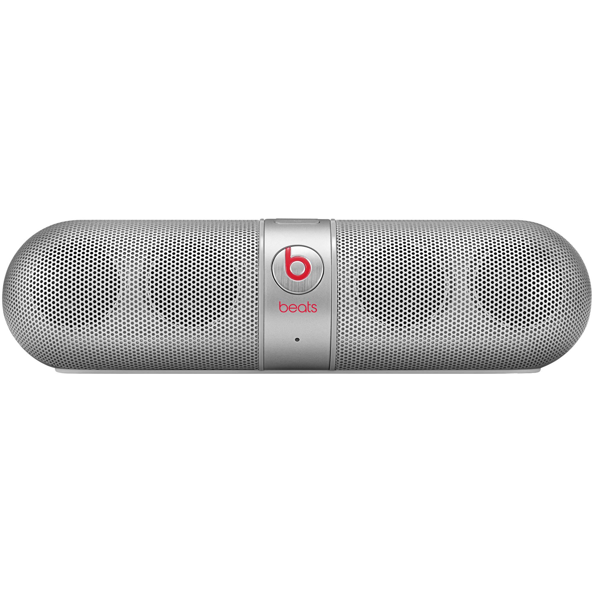speakers beats. beats by dr. dre pill 2.0 portable speaker (silver) speakers l