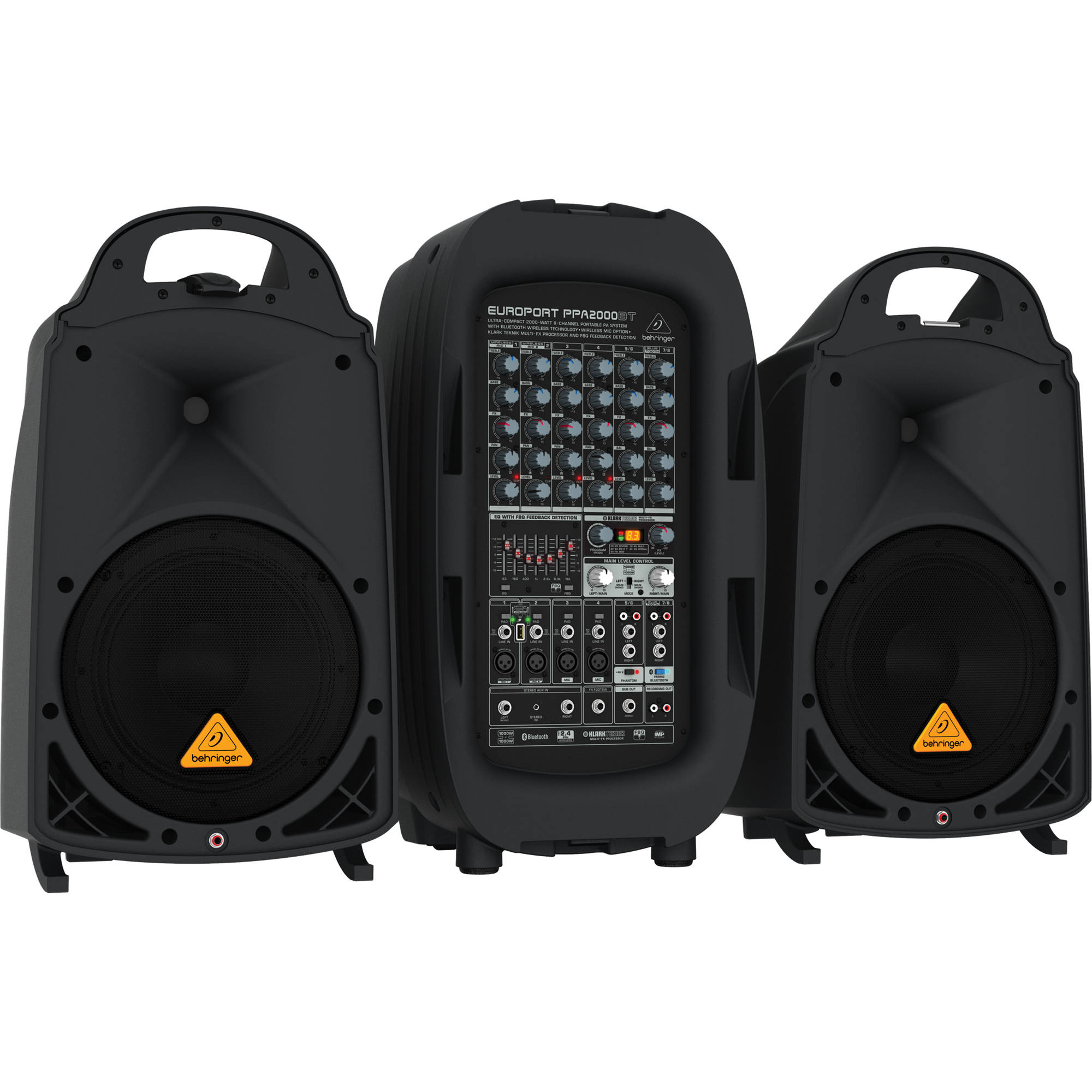Portable Pa System With Wireless Speakers Wire Center Hi Fi Tone Control Circuit C1815 8211 C945 Behringer Europort Ppa2000bt 2000w 8 Channel B H Rh Bhphotovideo Com Systems