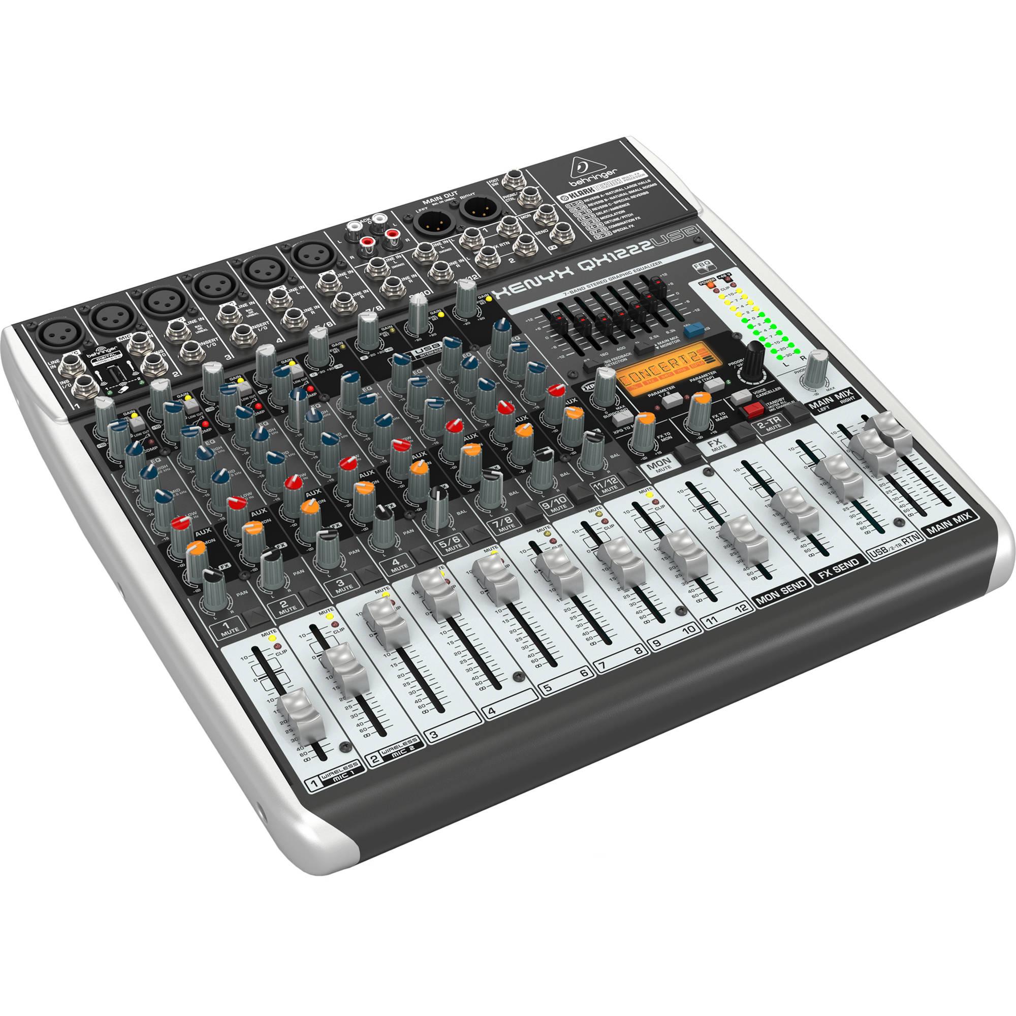 behringer xenyx qx1222usb 16 input usb audio mixer qx1222usb. Black Bedroom Furniture Sets. Home Design Ideas
