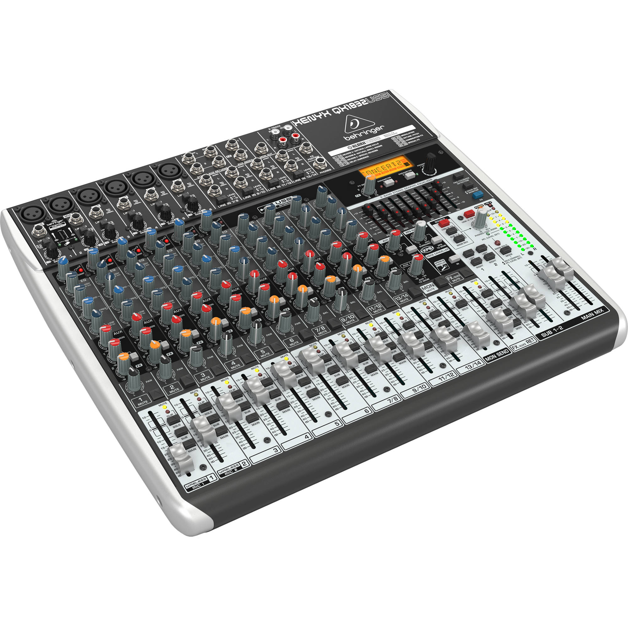behringer xenyx qx1832usb 18 input usb audio mixer qx1832usb b h. Black Bedroom Furniture Sets. Home Design Ideas