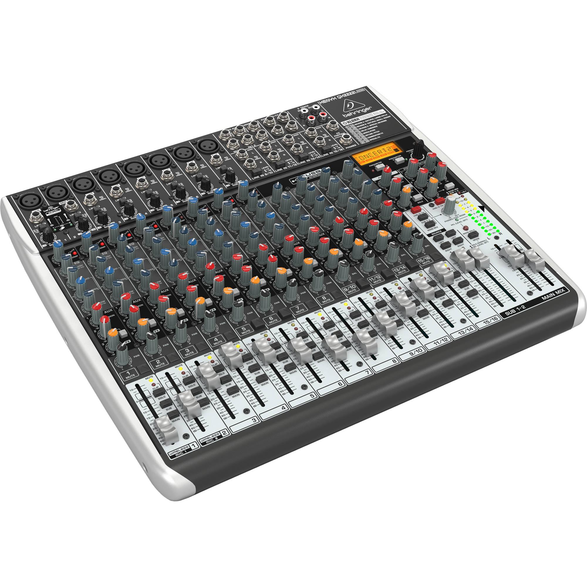 behringer xenyx qx2222usb 22 input usb audio mixer qx2222usb b h. Black Bedroom Furniture Sets. Home Design Ideas