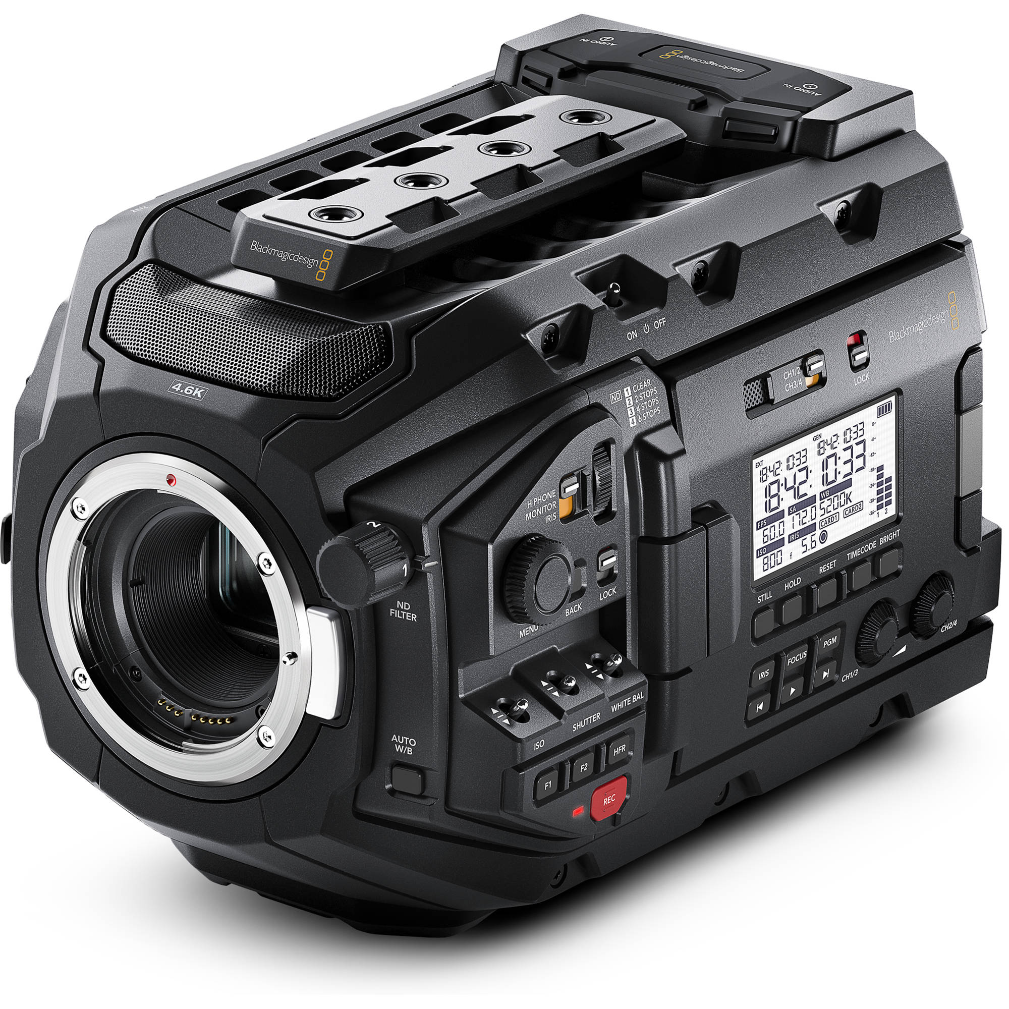 Blackmagic Design URSA Mini Pro 4.6K Digital Cinema BLURSAMPU