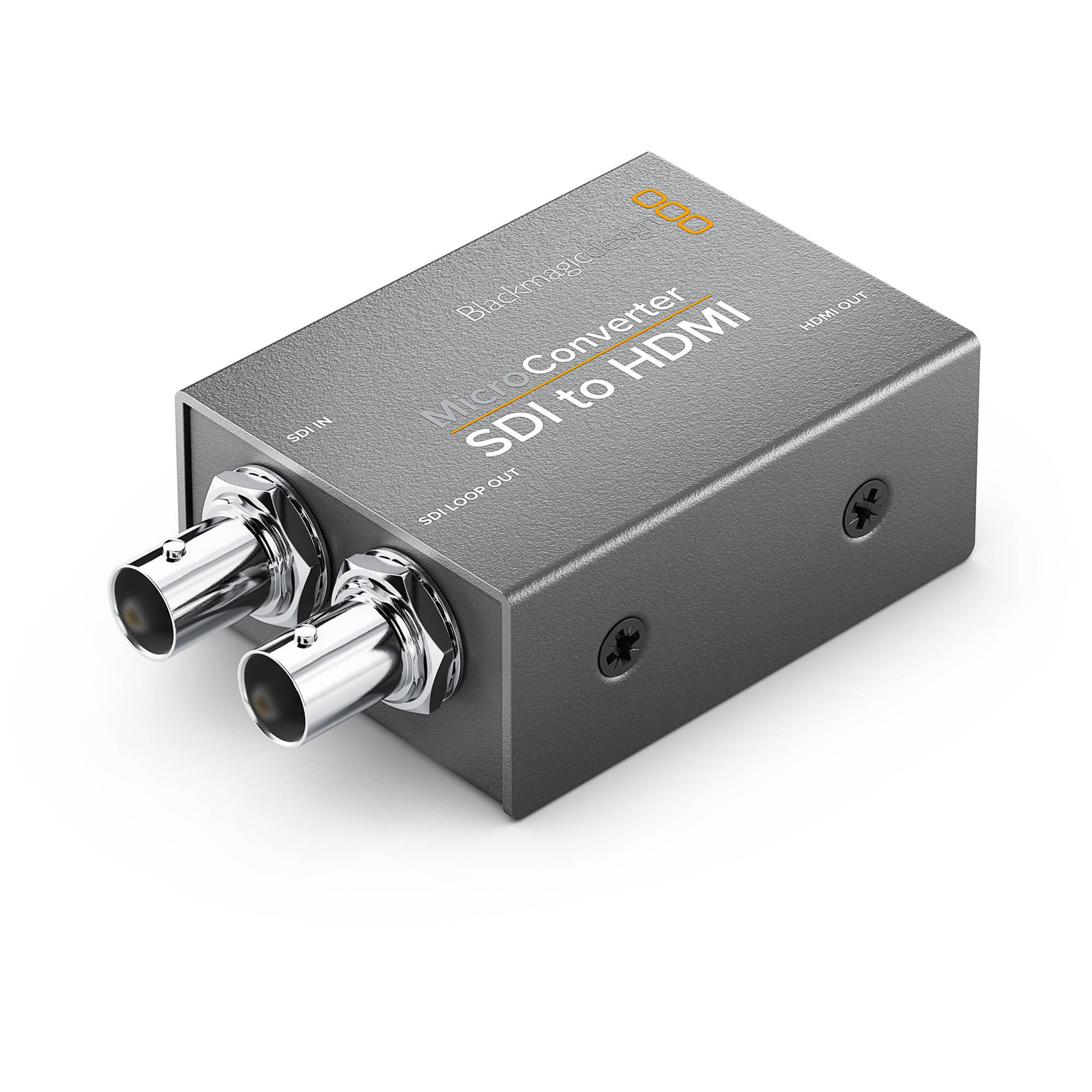 Blackmagic Design Micro Converter Sdi To Hdmi Convcmic Sh Wpsu