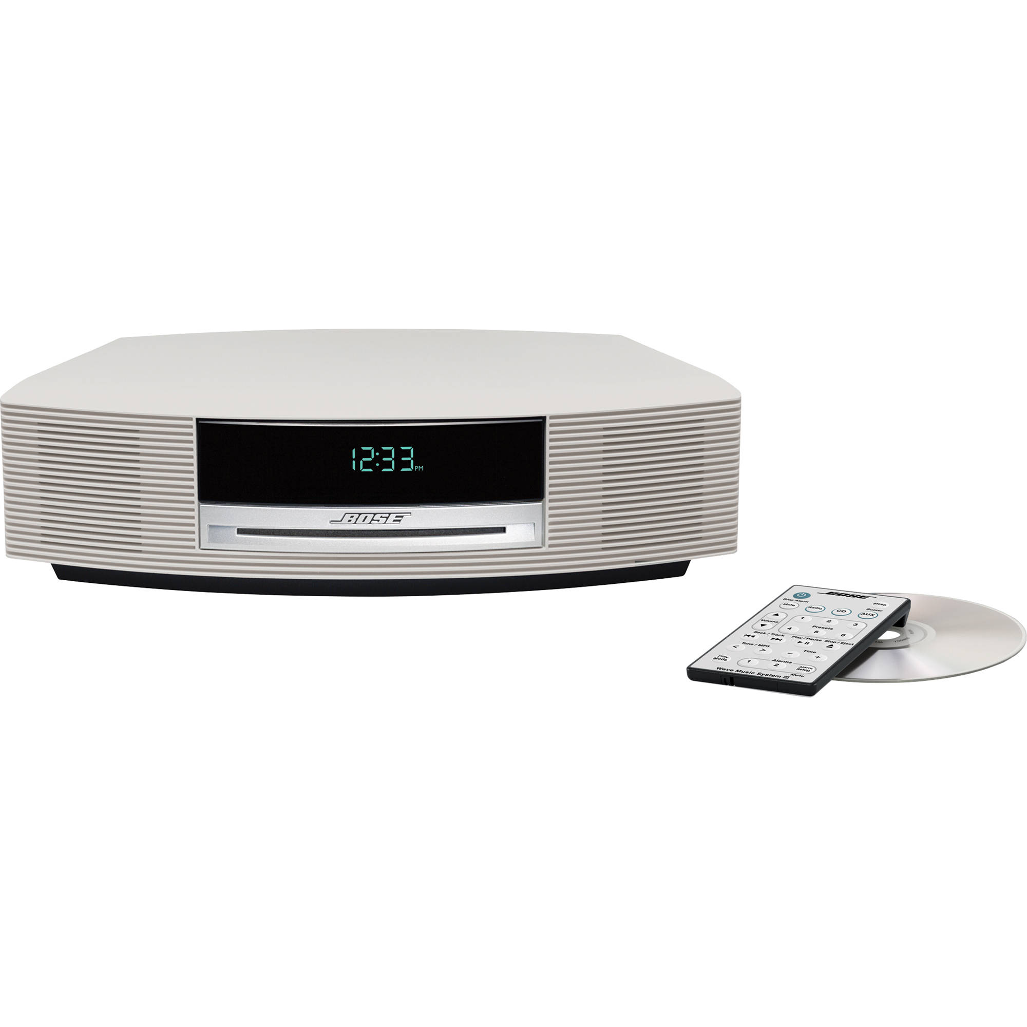 bose wave music system iii platinum white 343178 1210 b h. Black Bedroom Furniture Sets. Home Design Ideas