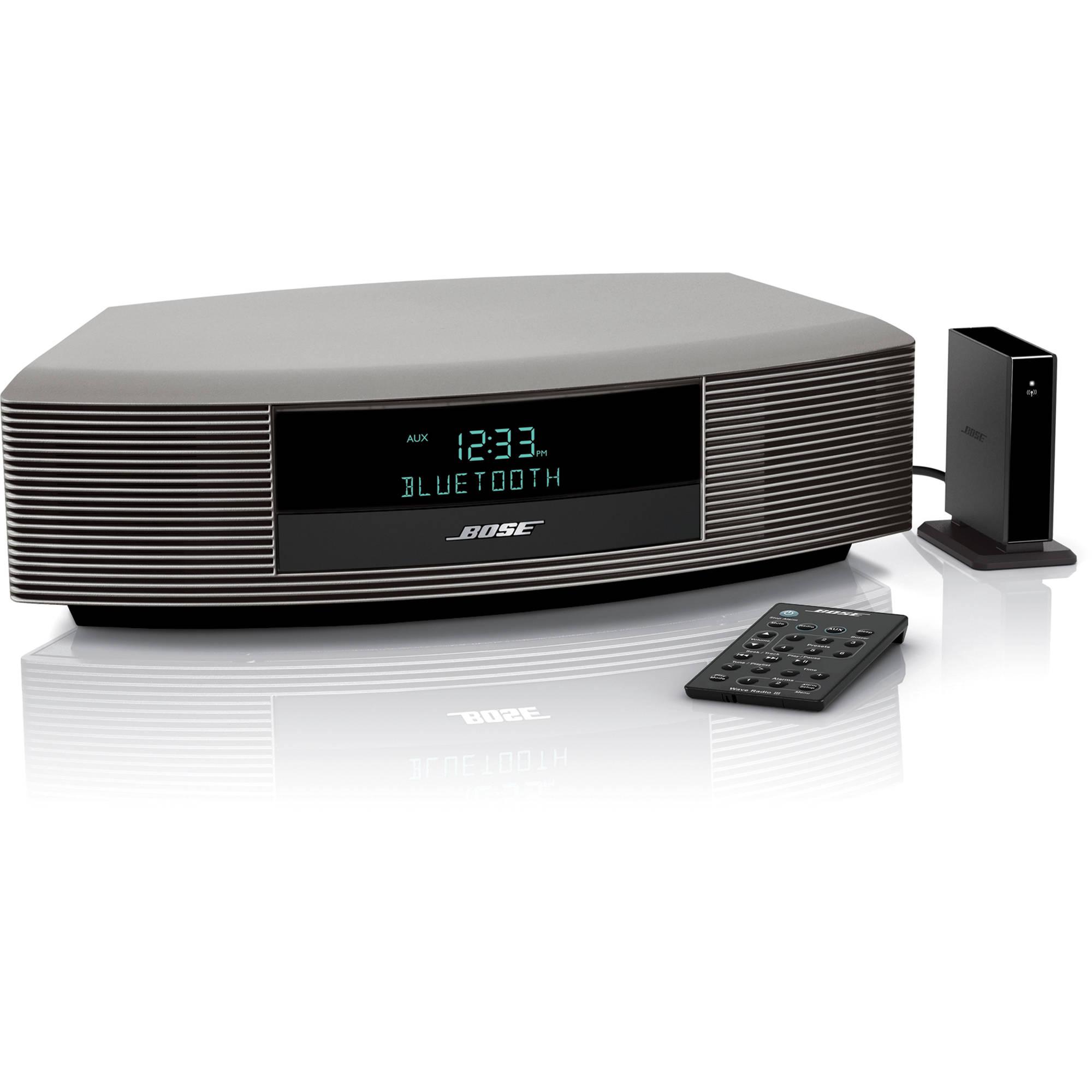 bose wave radio iii with bluetooth music adapter titanium. Black Bedroom Furniture Sets. Home Design Ideas