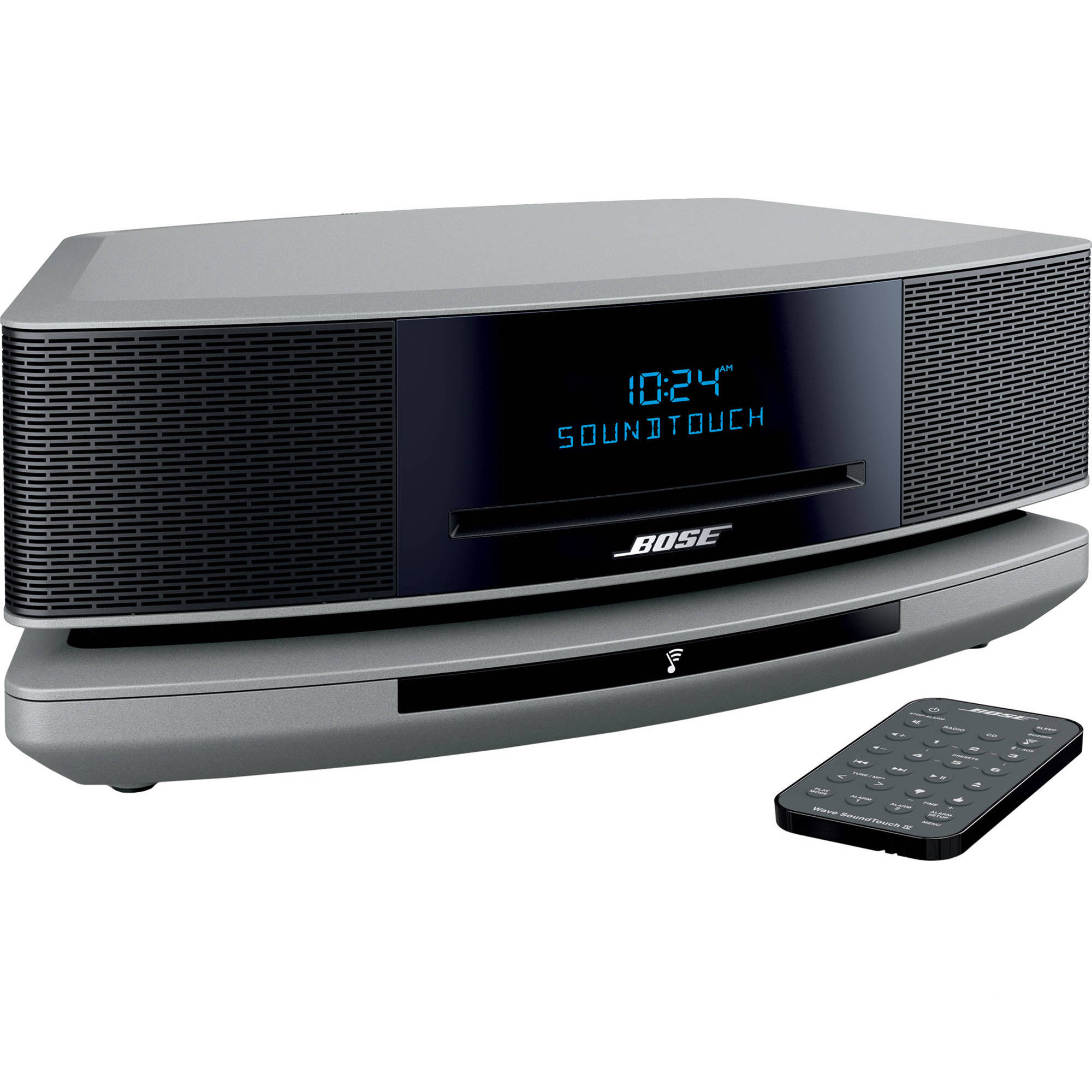 bose wave soundtouch music system iv platinum silver. Black Bedroom Furniture Sets. Home Design Ideas