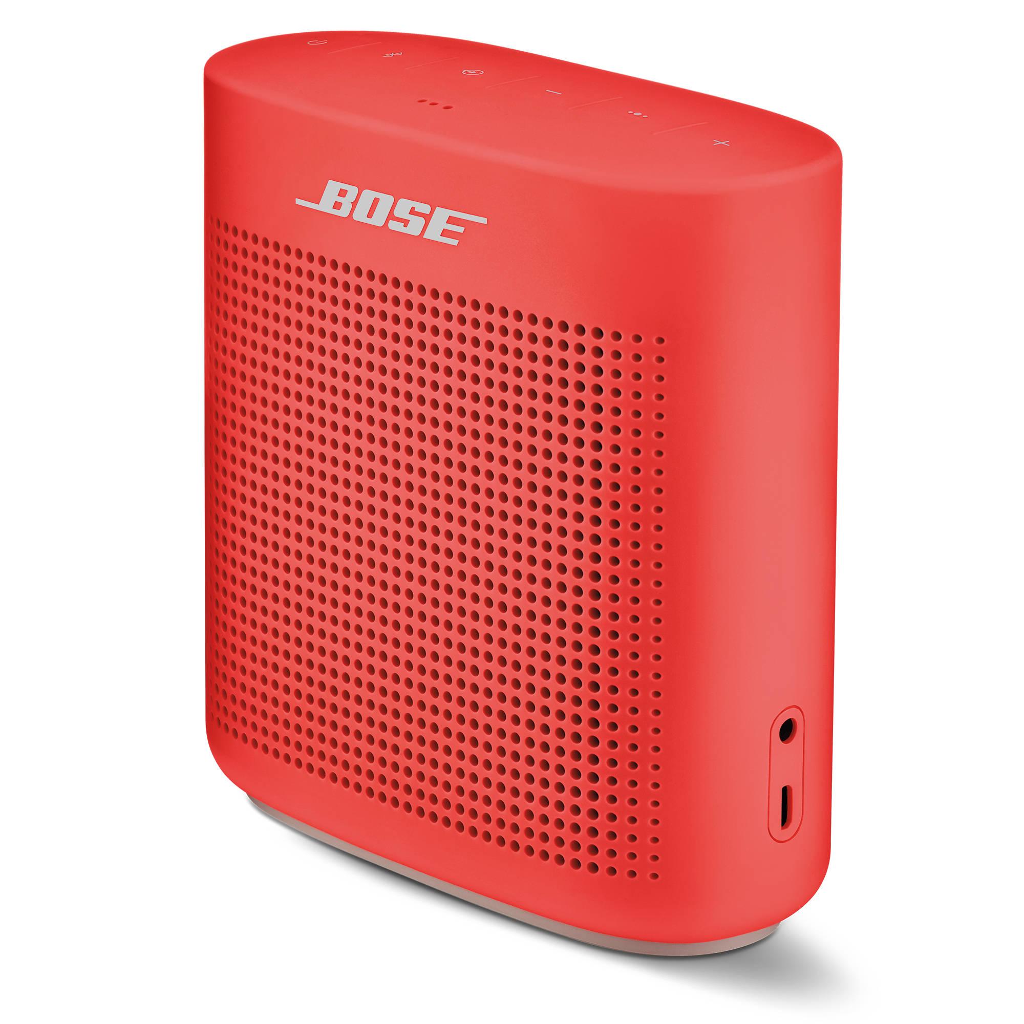 bose soundlink color ii bluetooth speaker coral red. Black Bedroom Furniture Sets. Home Design Ideas
