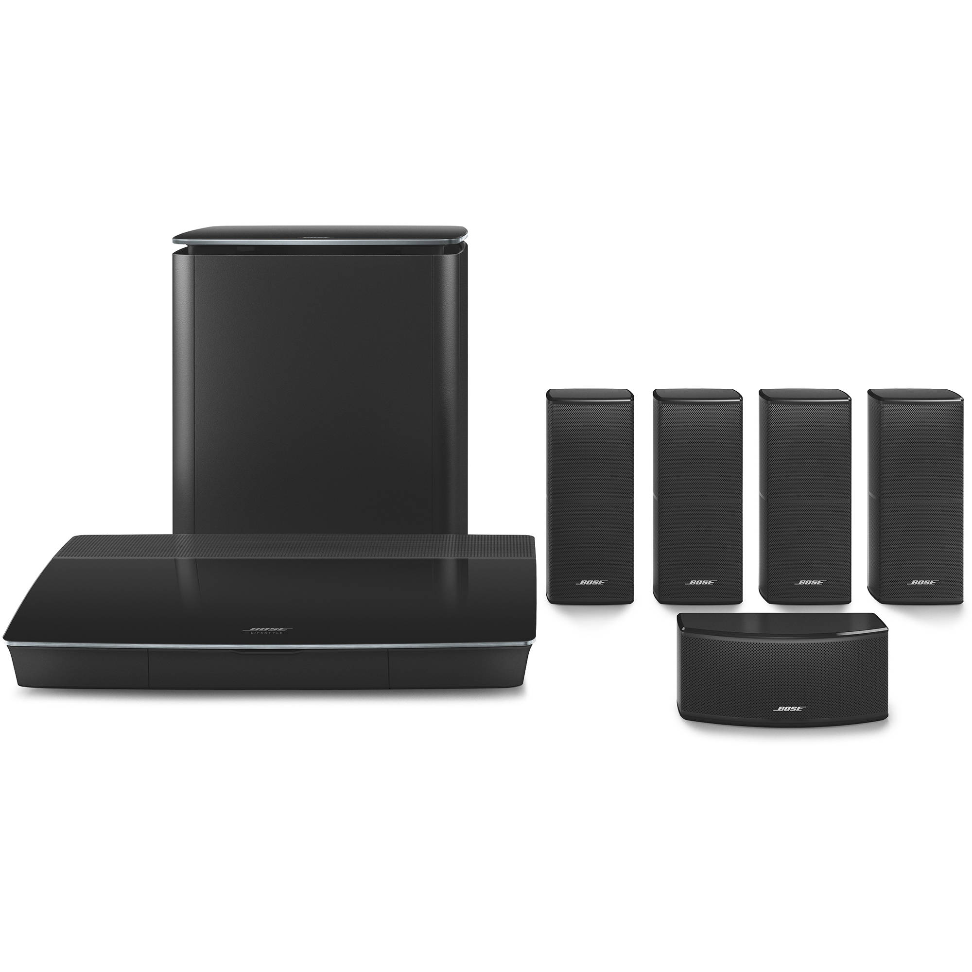 Bose Lifestyle 600 Home Theater System With Jewel 761682 1110 Acoustimass Speaker Wiring Cube Speakers Black