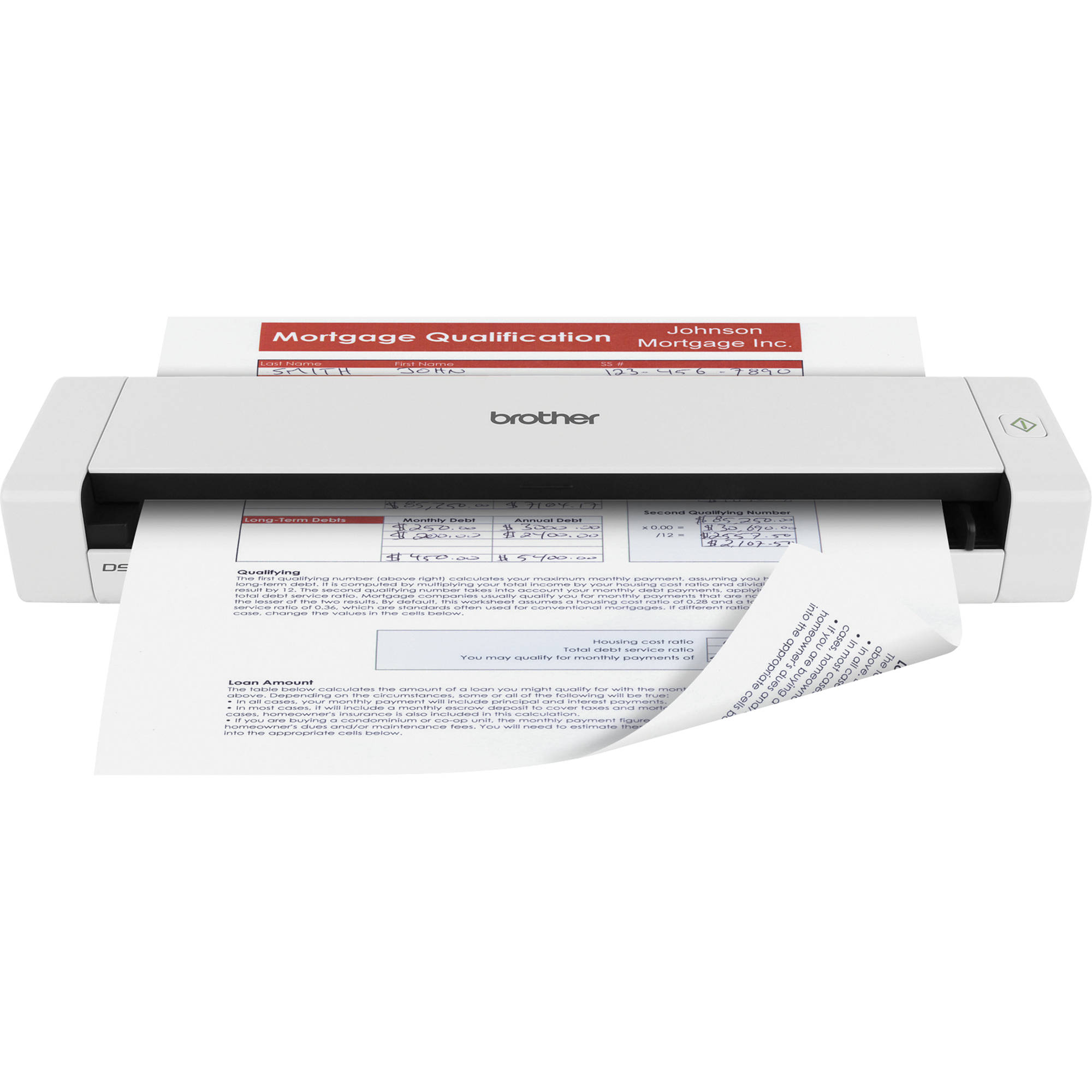 brother dsmobile 720d mobile duplex document scanner ds 720d b h