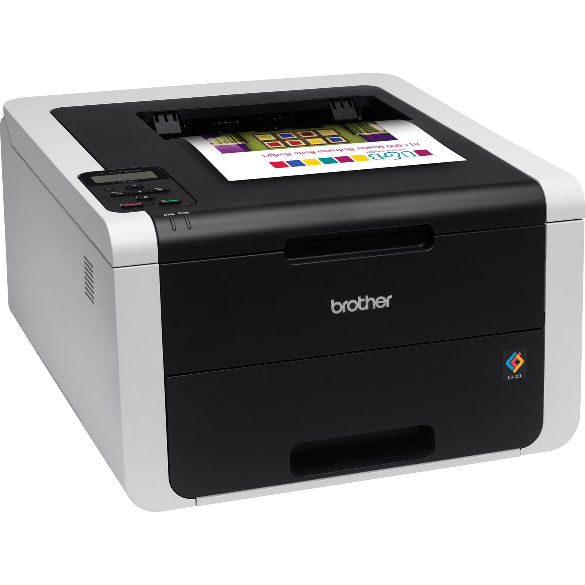 Color printers laser - Brother Hl 3170cdw Wireless Color Laser Printer