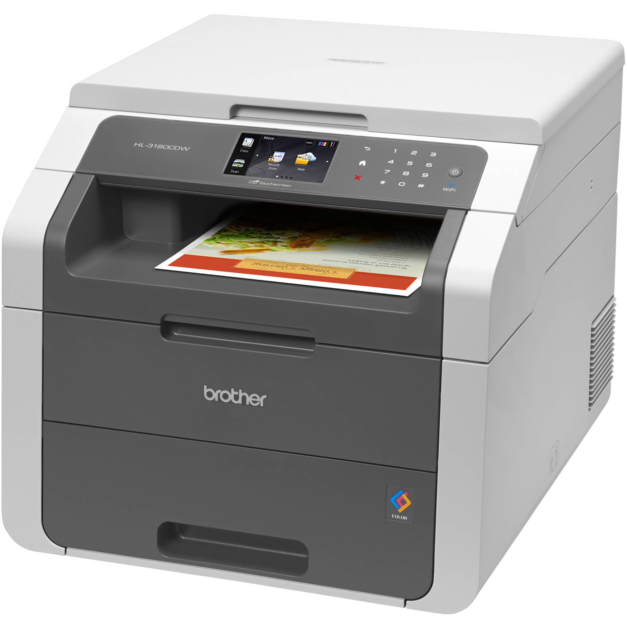 Brother HL 3180CDW All In One Color Laser Printer