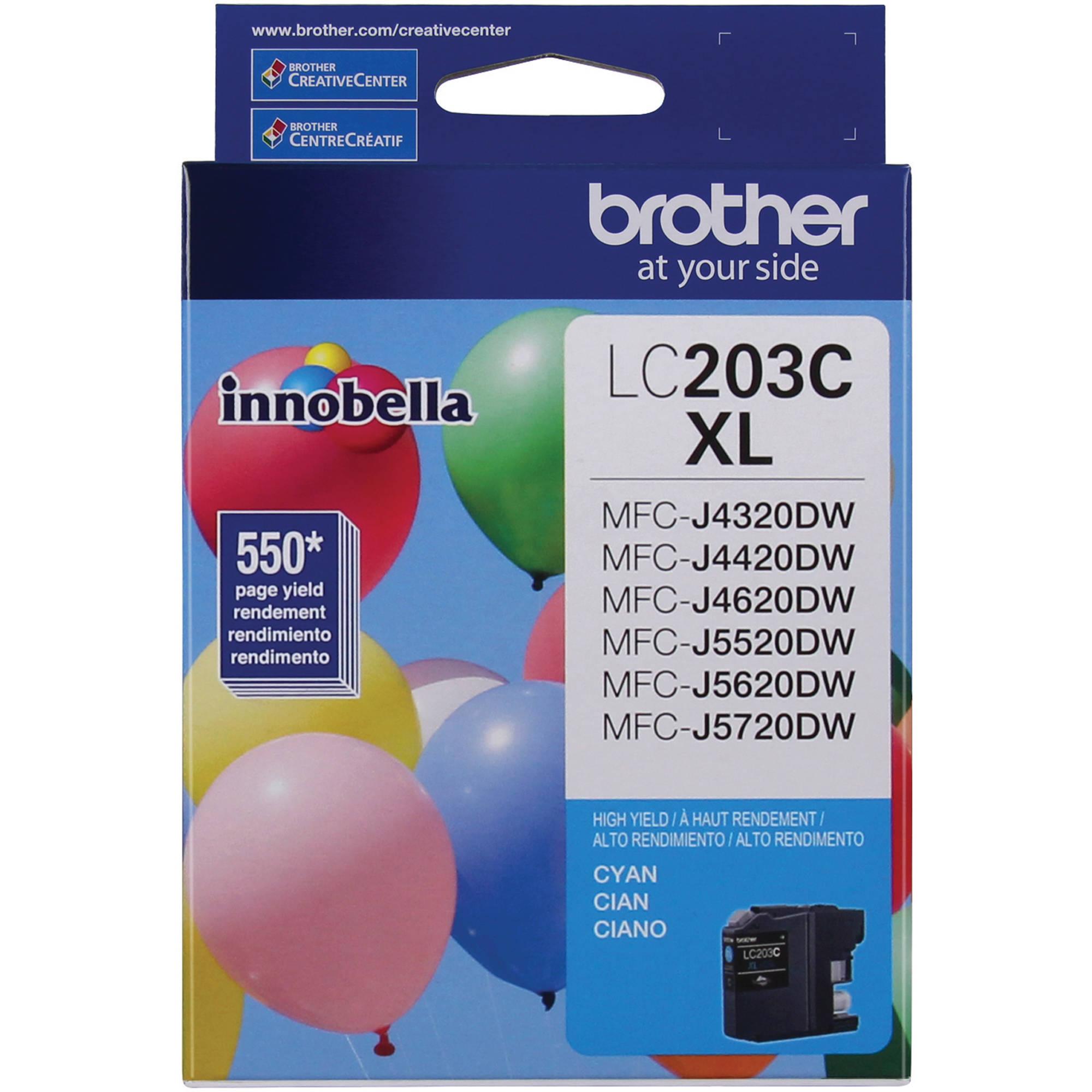Brother LC203C Innobella High Yield XL Series Cyan Ink Cartridge