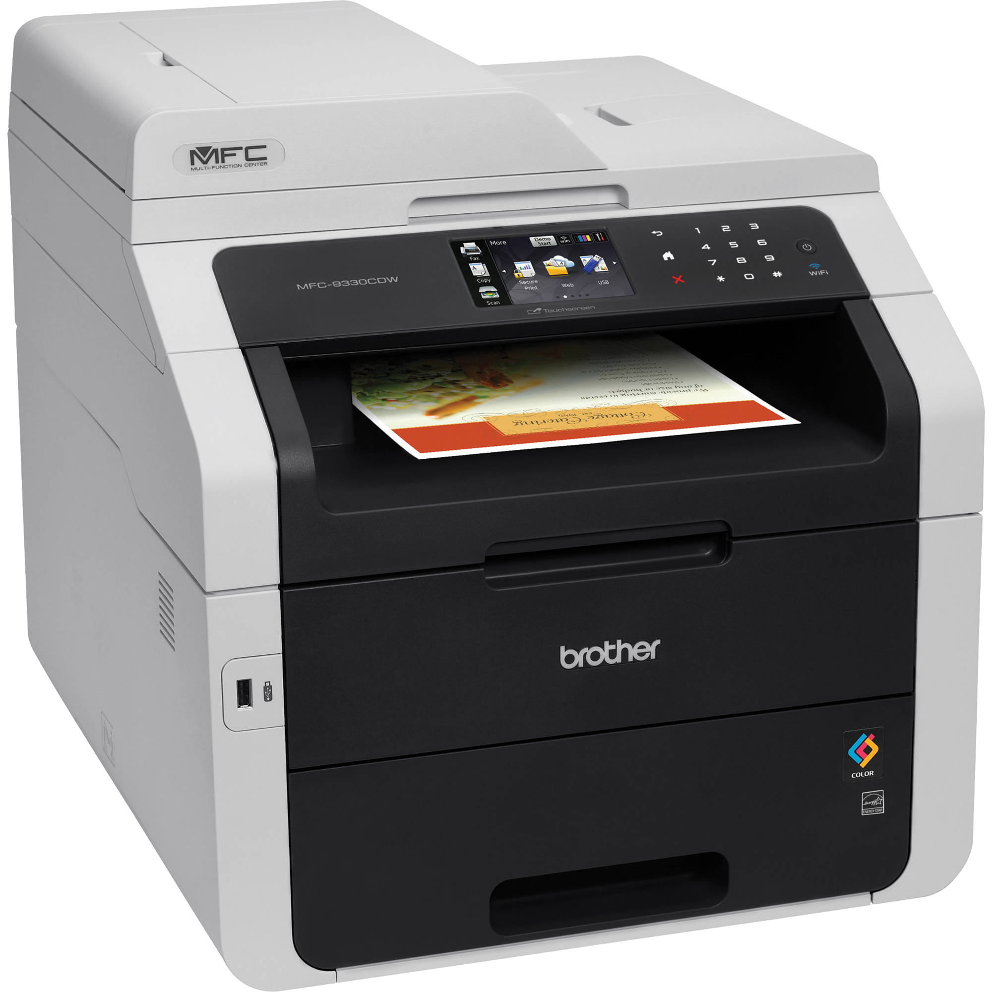 Color printers laser - Brother Mfc 9330cdw Wireless Color All In One Laser Printer