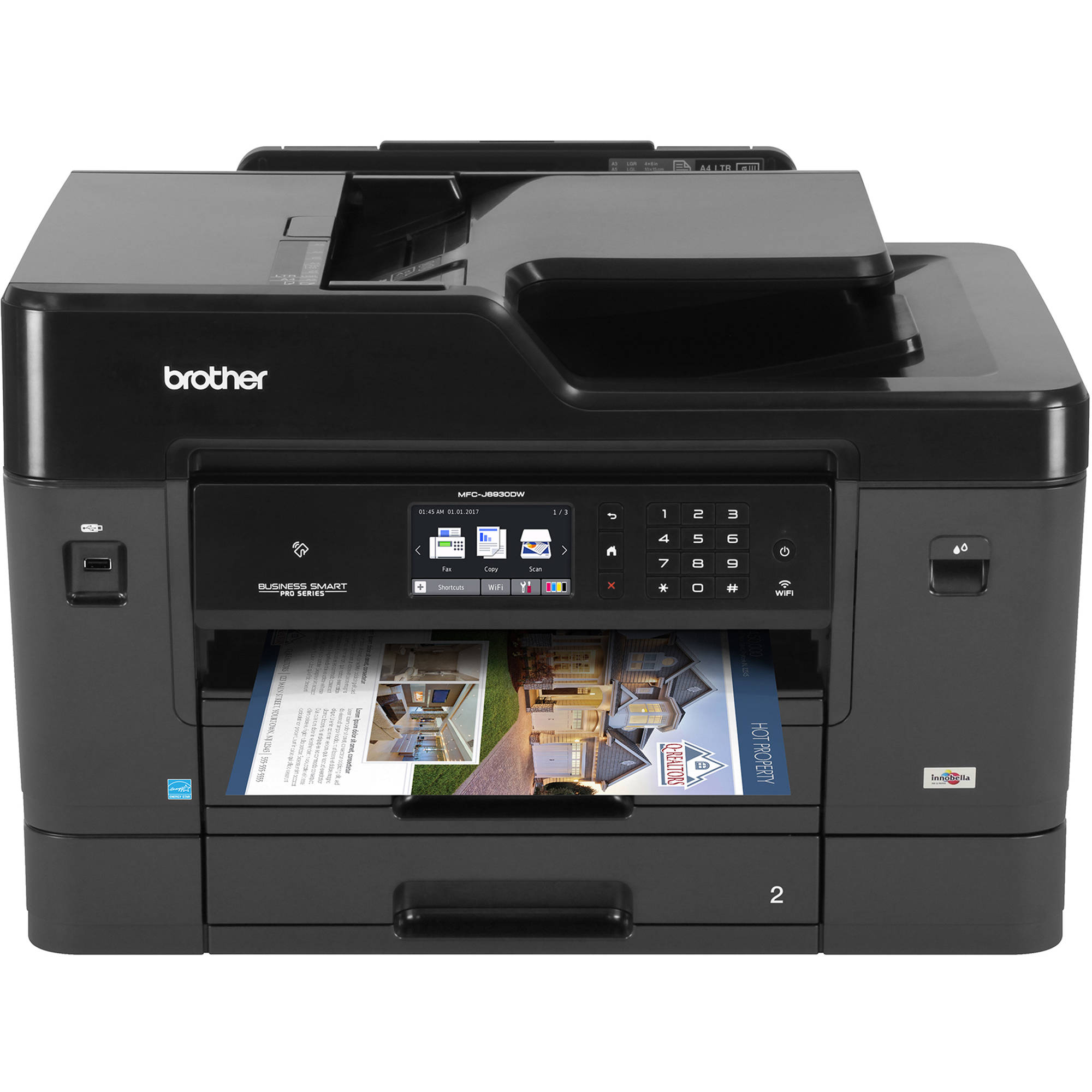 Brother Mfc J6930dw All In One Inkjet Printer Mfcj6930dw B Amp H