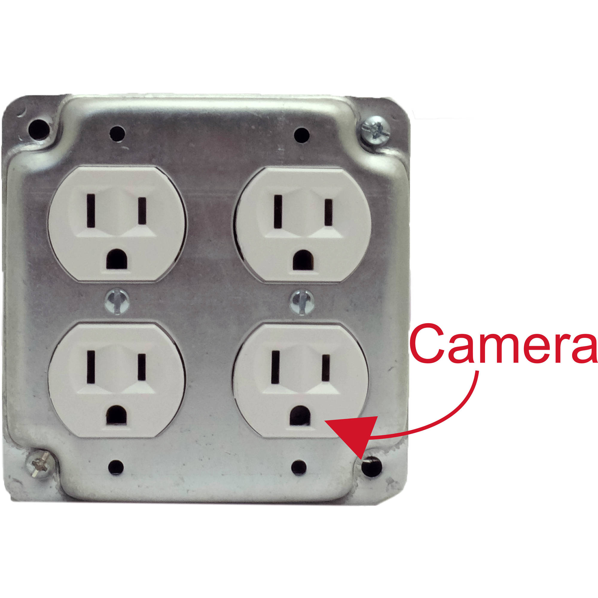 Bush Baby Functional Quad Receptacle With 1080p Covert