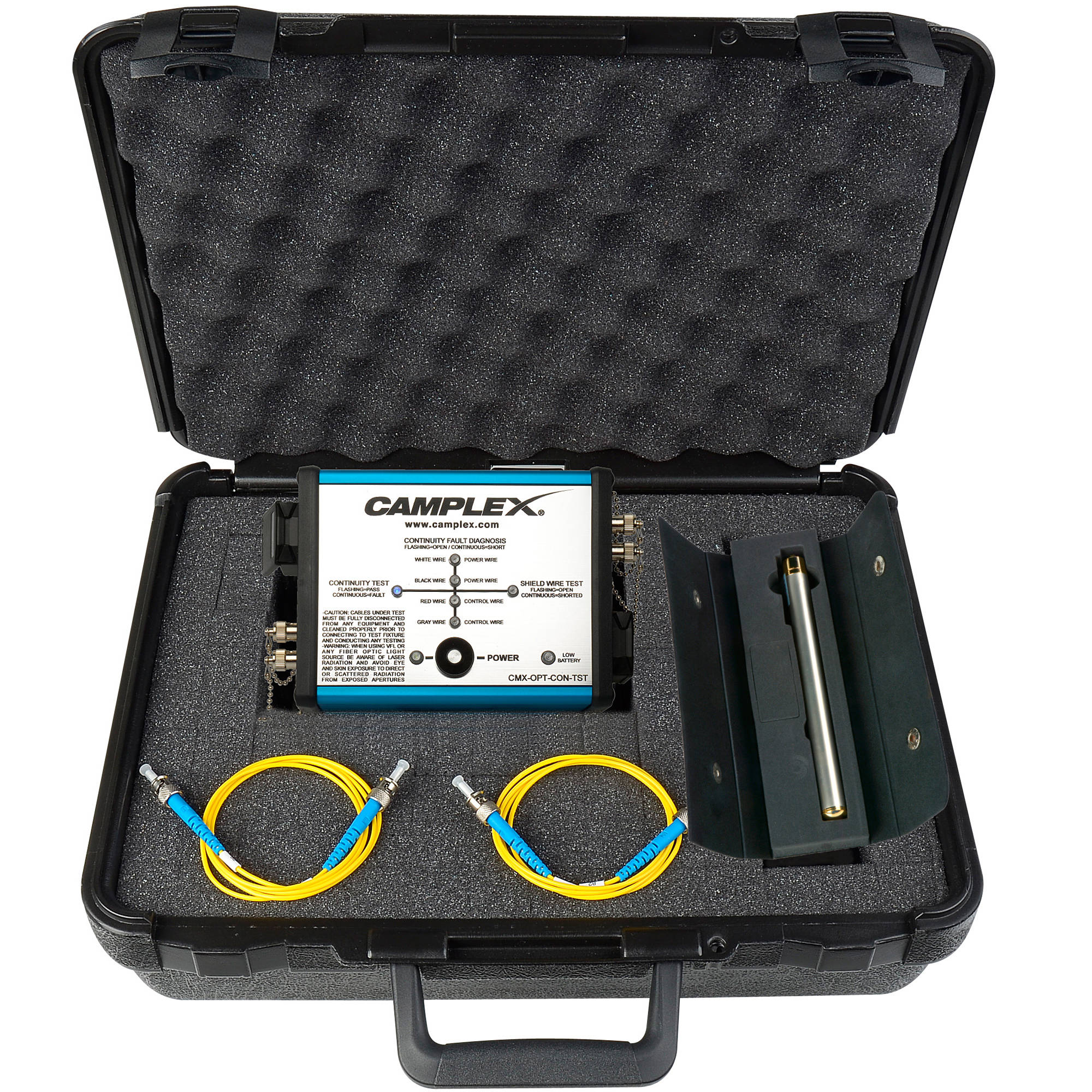 camplex opticalcon fiber optic cable tester cmx opt con tst b h