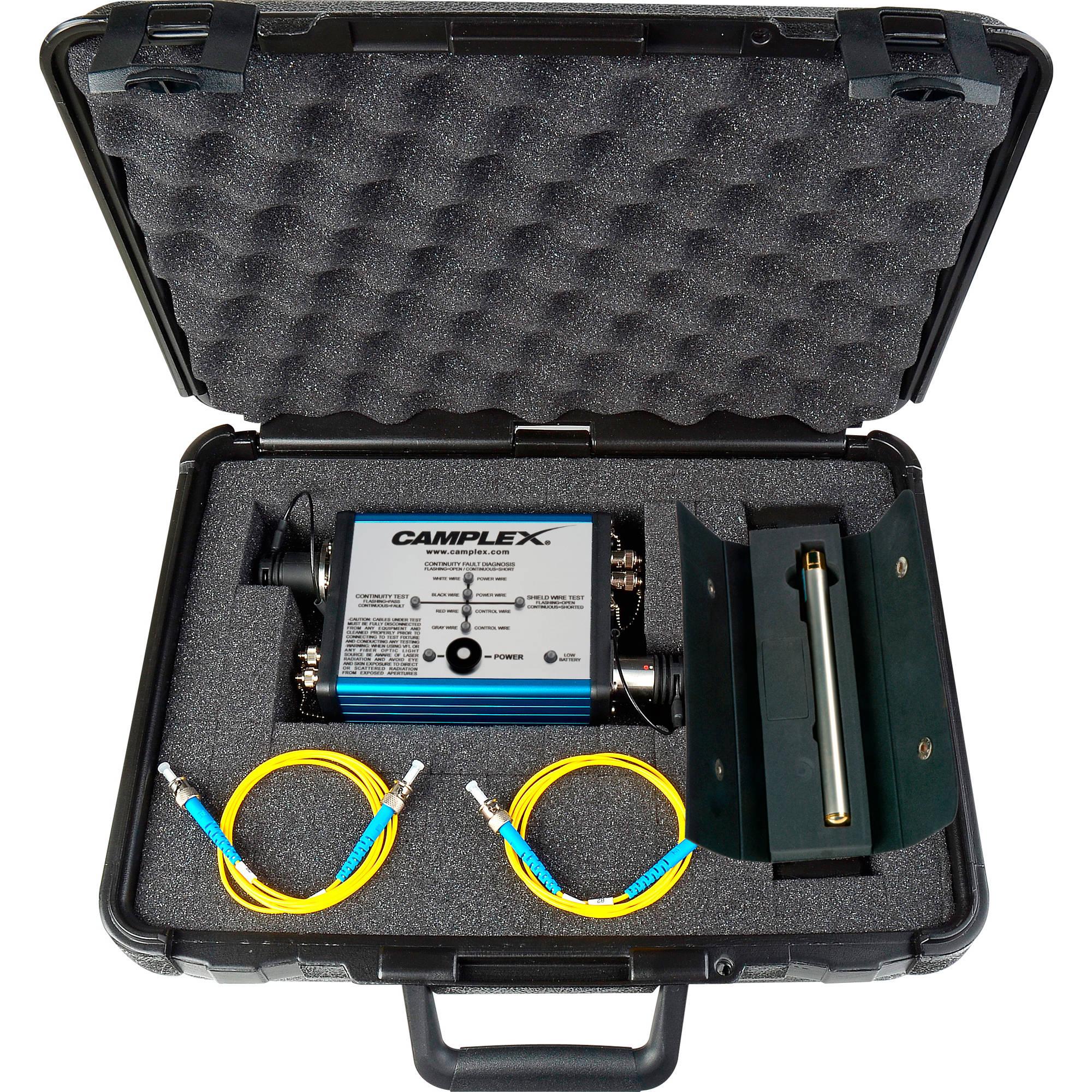 Fiber Cable Tester : Camplex smpte fiber optic cable tester cmx b h