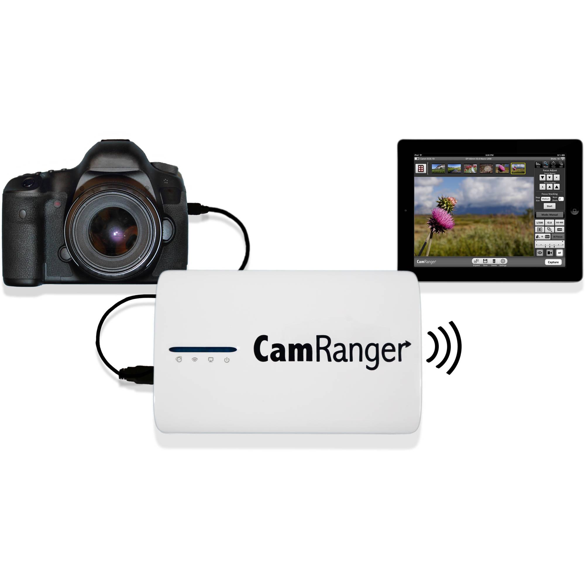 Camera Wireless Dslr Camera Control camranger wireless transmitter for select canon 1001 and nikon dslr cameras