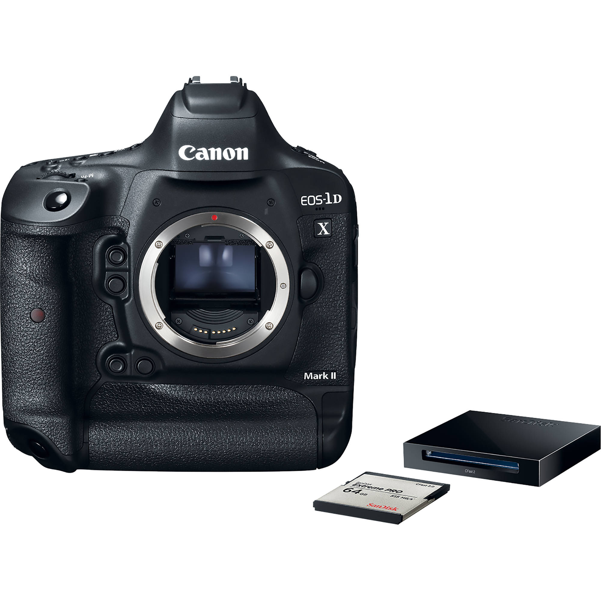 canon eos d x mark ii dslr camera premium kit c b h canon eos 1d x mark ii dslr camera premium kit 64gb card and reader