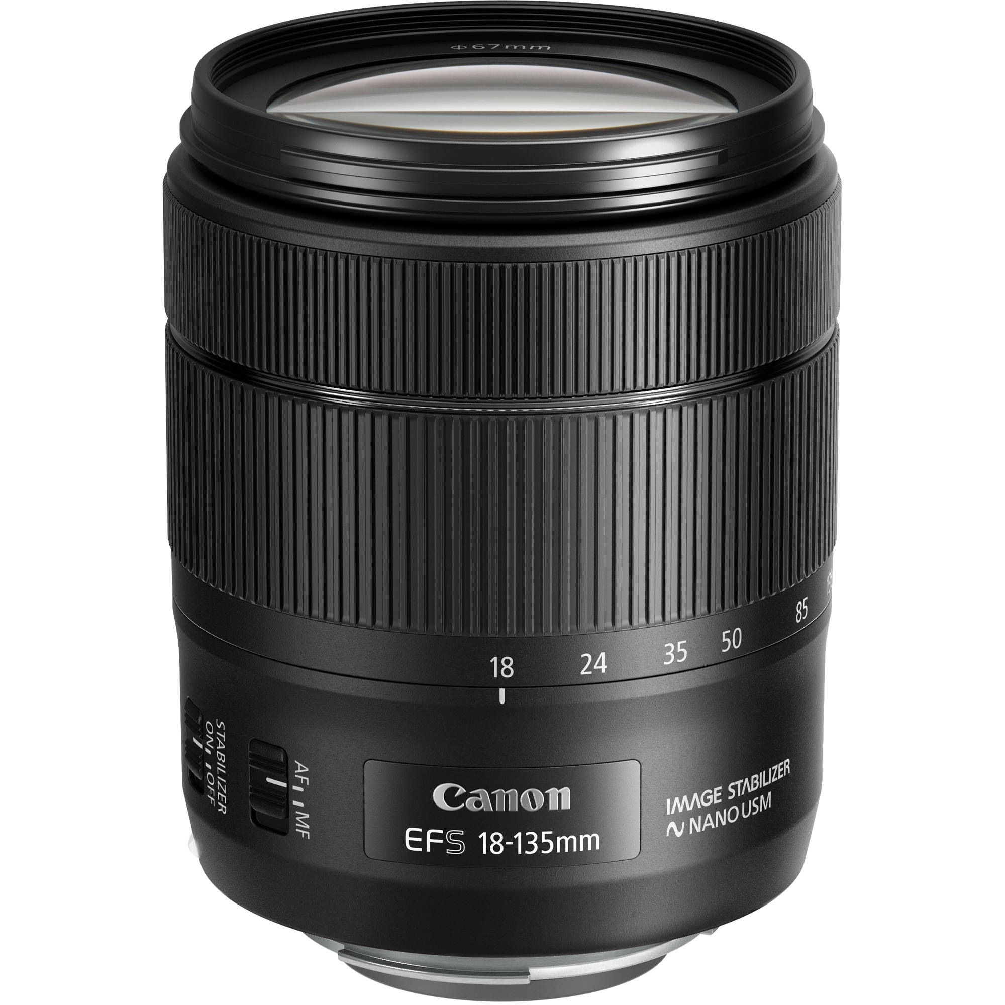 canon ef s 18 135mm f 3 5 5 6 is usm lens 1276c002 b h photo. Black Bedroom Furniture Sets. Home Design Ideas