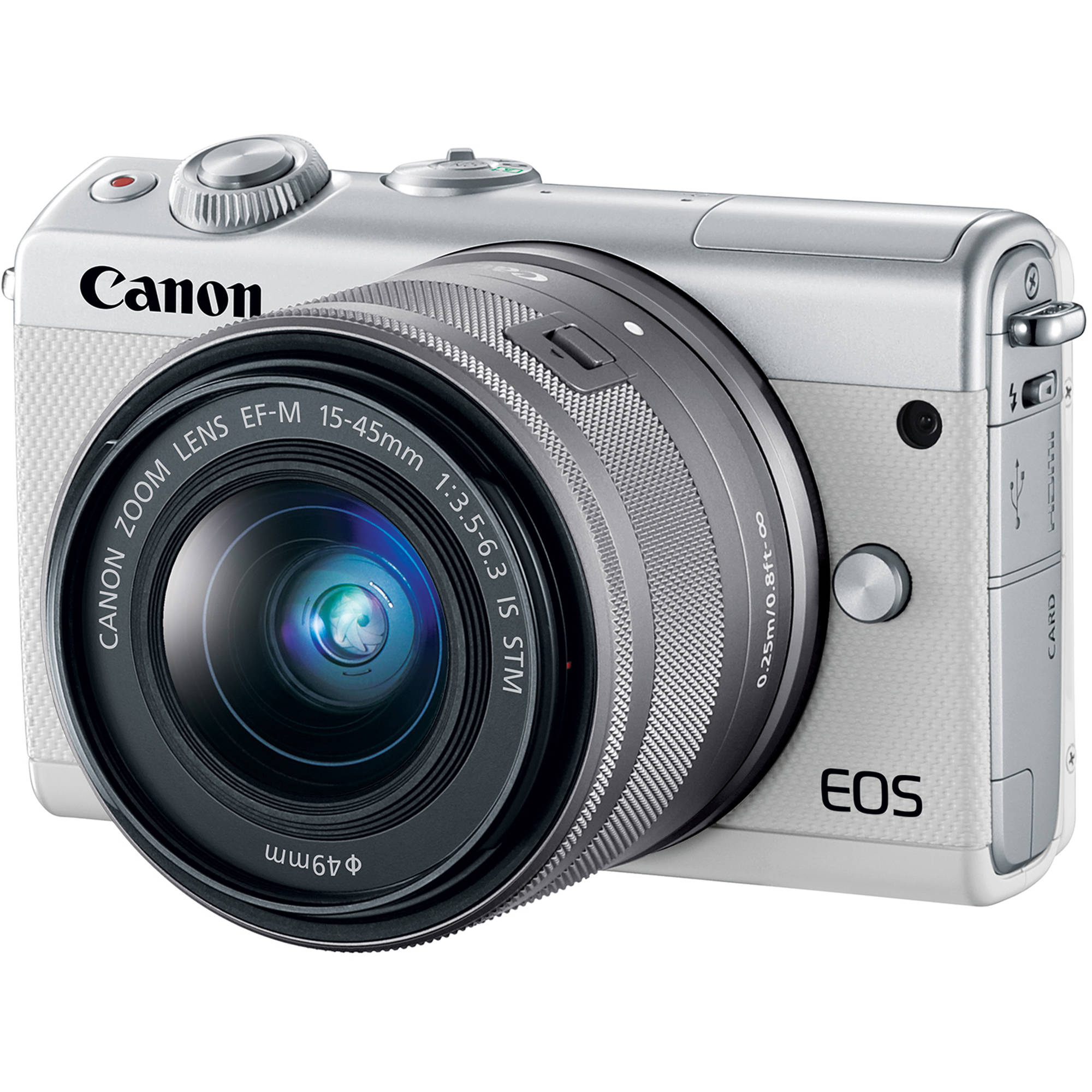 Canon EOS M100 Mirrorless Digital Camera with 15-45mm 2210C011